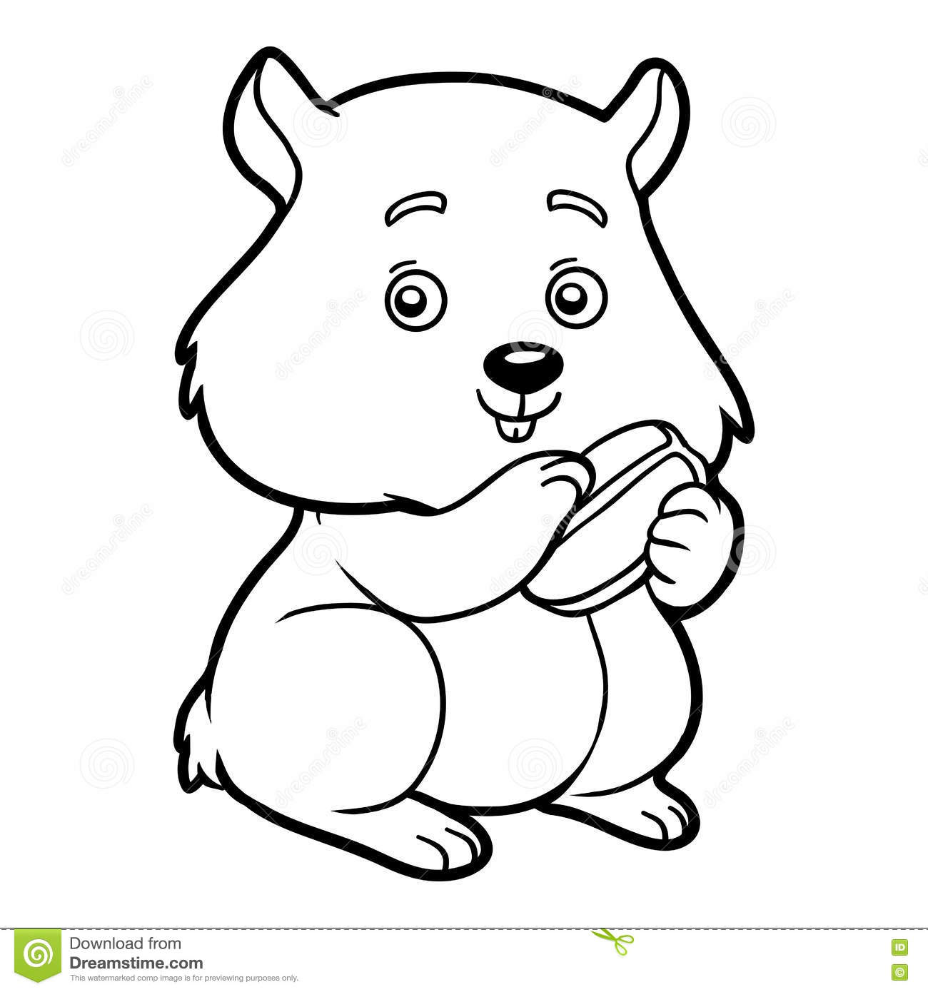 Coloring Book Hamster Stock Vector Illustration Of Rodent 76819650
