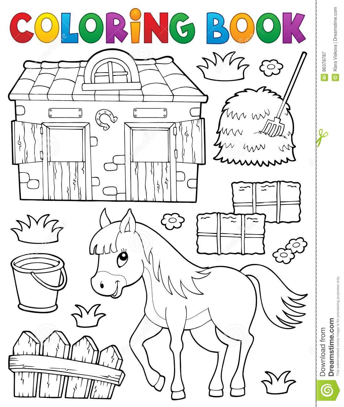 Royalty Free Vector Download Coloring Book Horse And Related Objects Stock