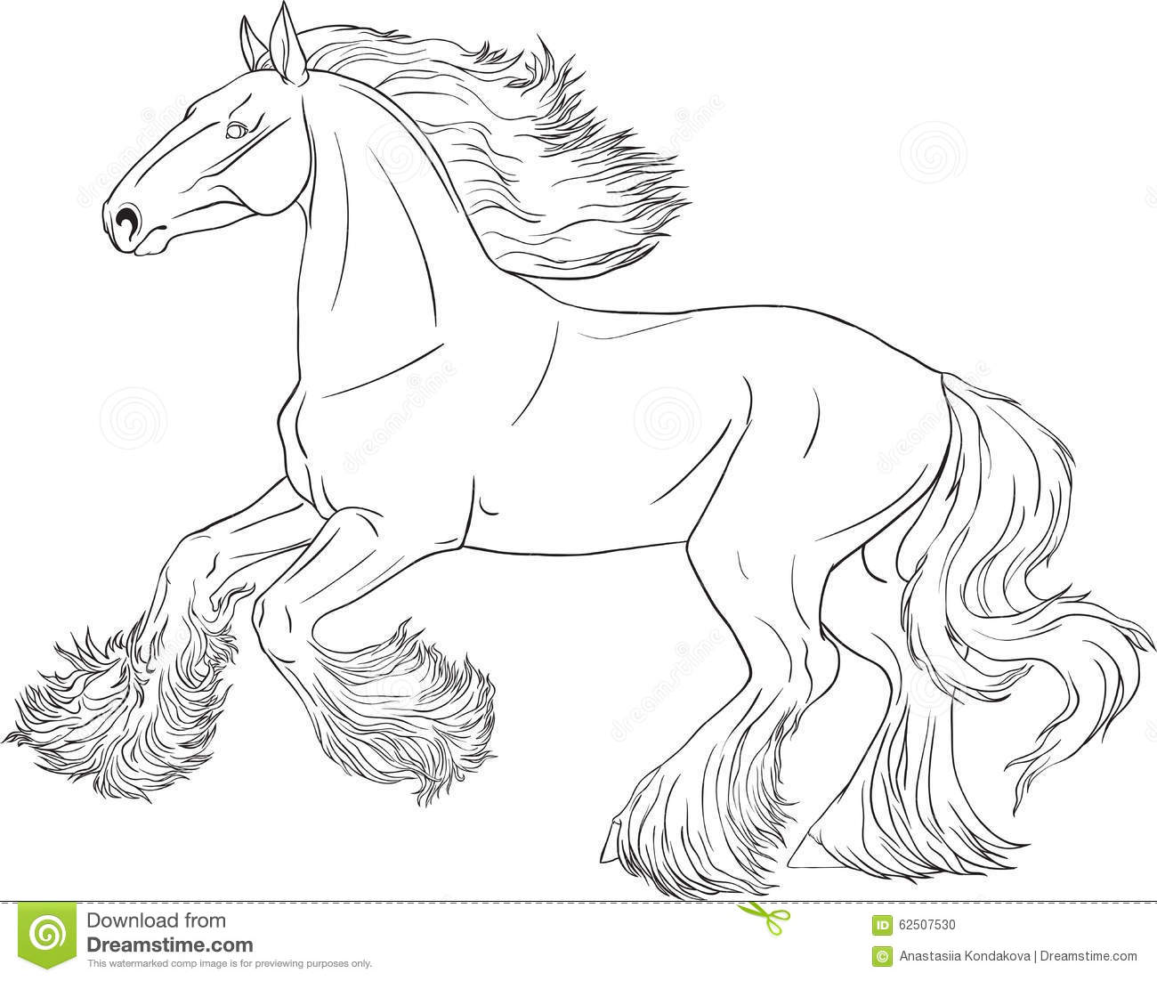 Download Coloring Book Horse Stock Vector Illustration Of Circuit