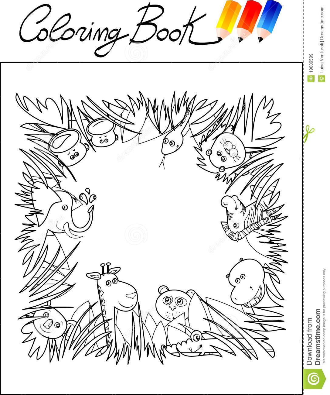 jungle background coloring pages - photo#21