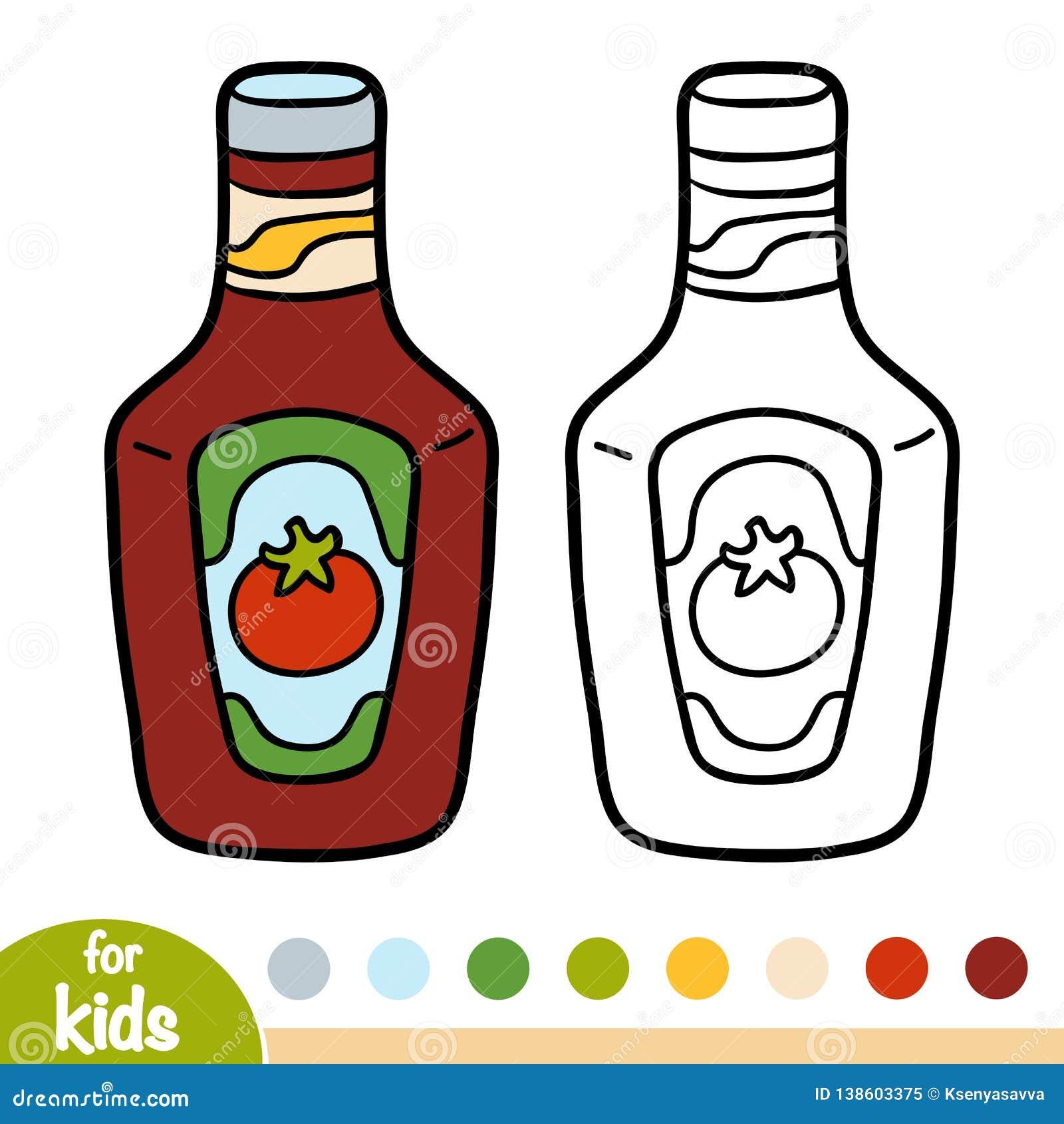 Coloring book, Ketchup pack