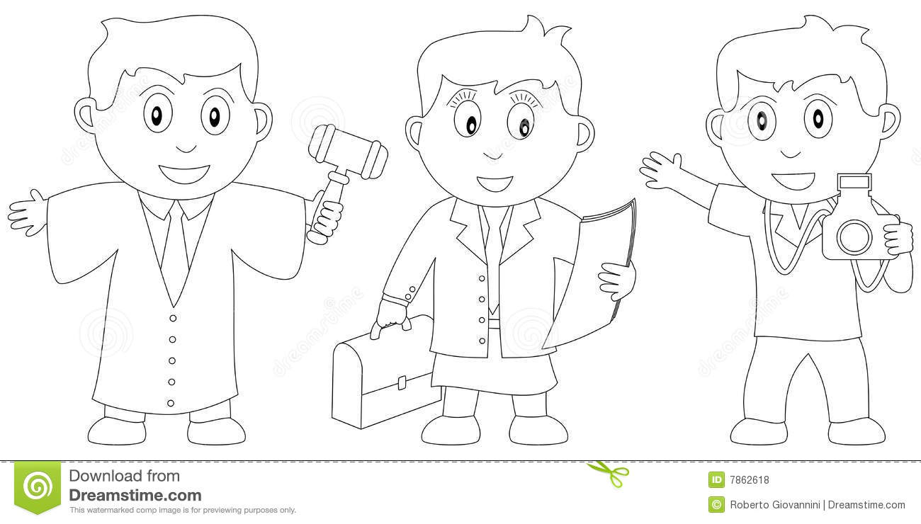 Coloring Book For Kids [10] Stock Vector - Illustration of advocate ...