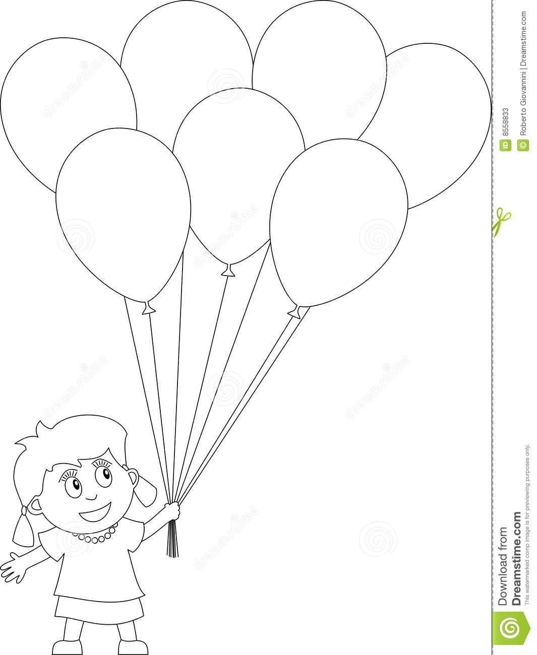 Free Coloring Pages Of Bunch Of Balloons