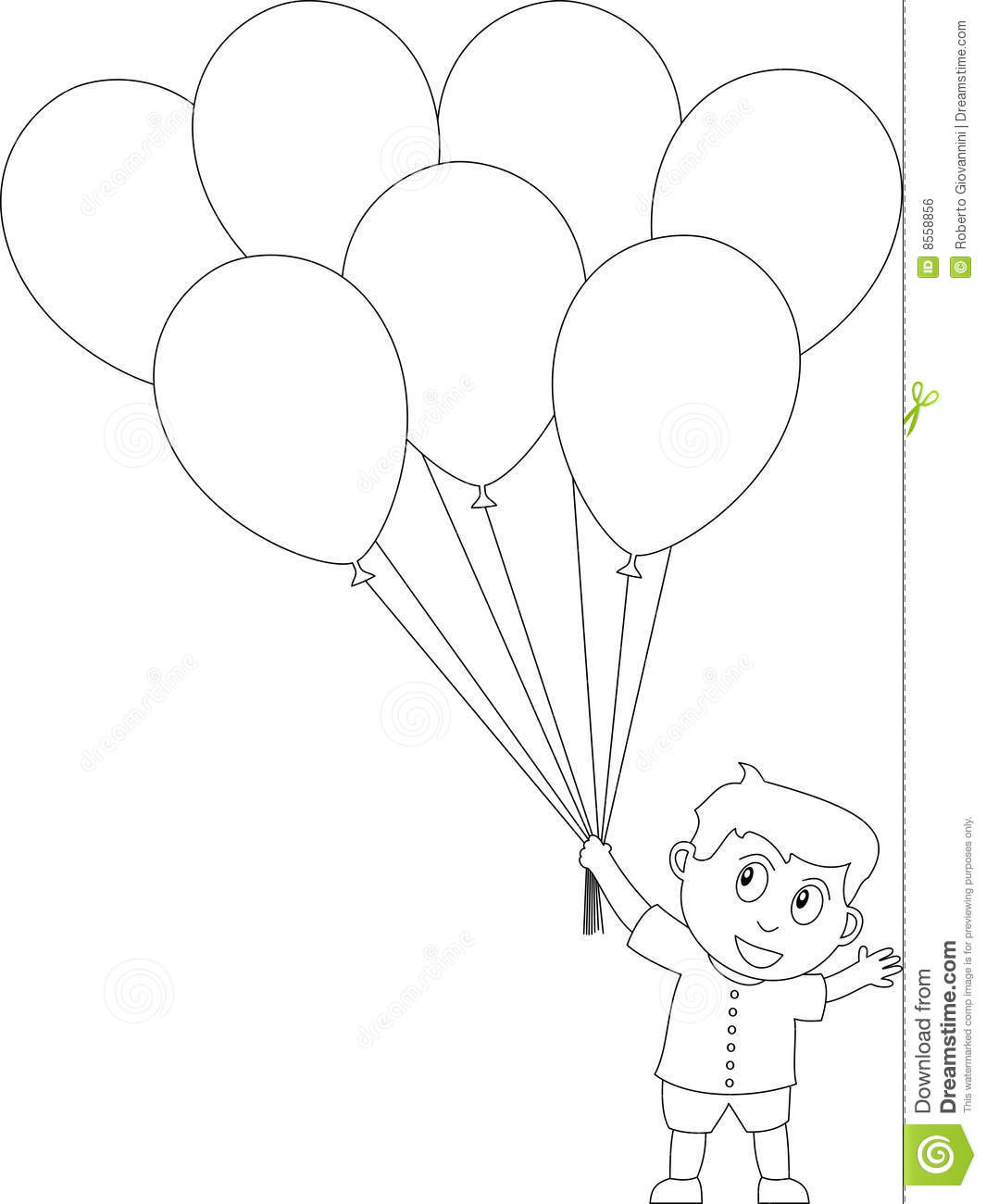 balloons book boy coloring colouring white baby child draw - Children Drawing Book Free Download