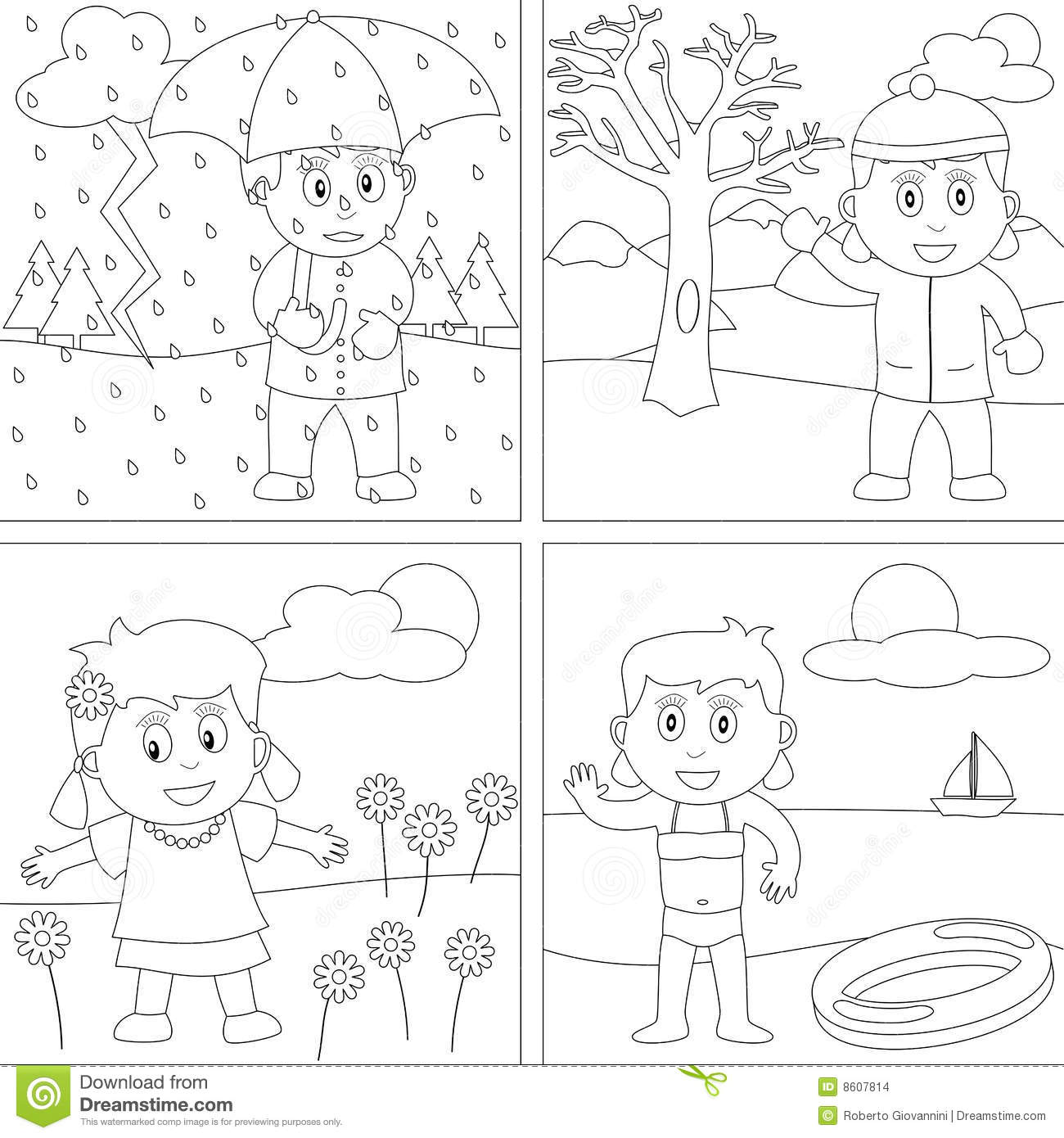 Coloring Book For Kids 28 Stock Vector Illustration Of Contour Drawing 8607814