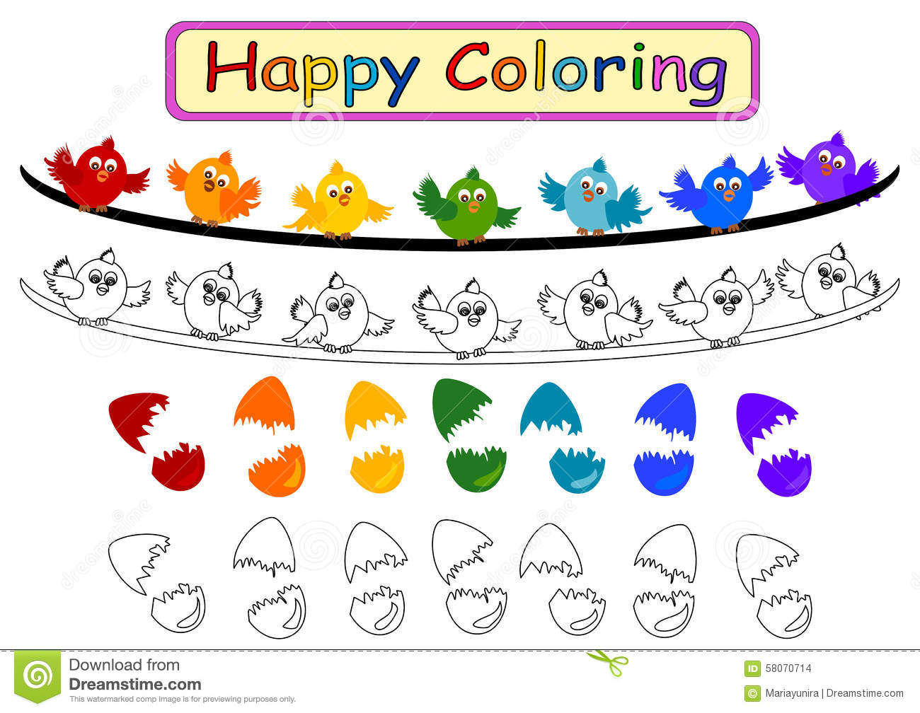 Coloring Book for kids stock illustration. Illustration of theme ...