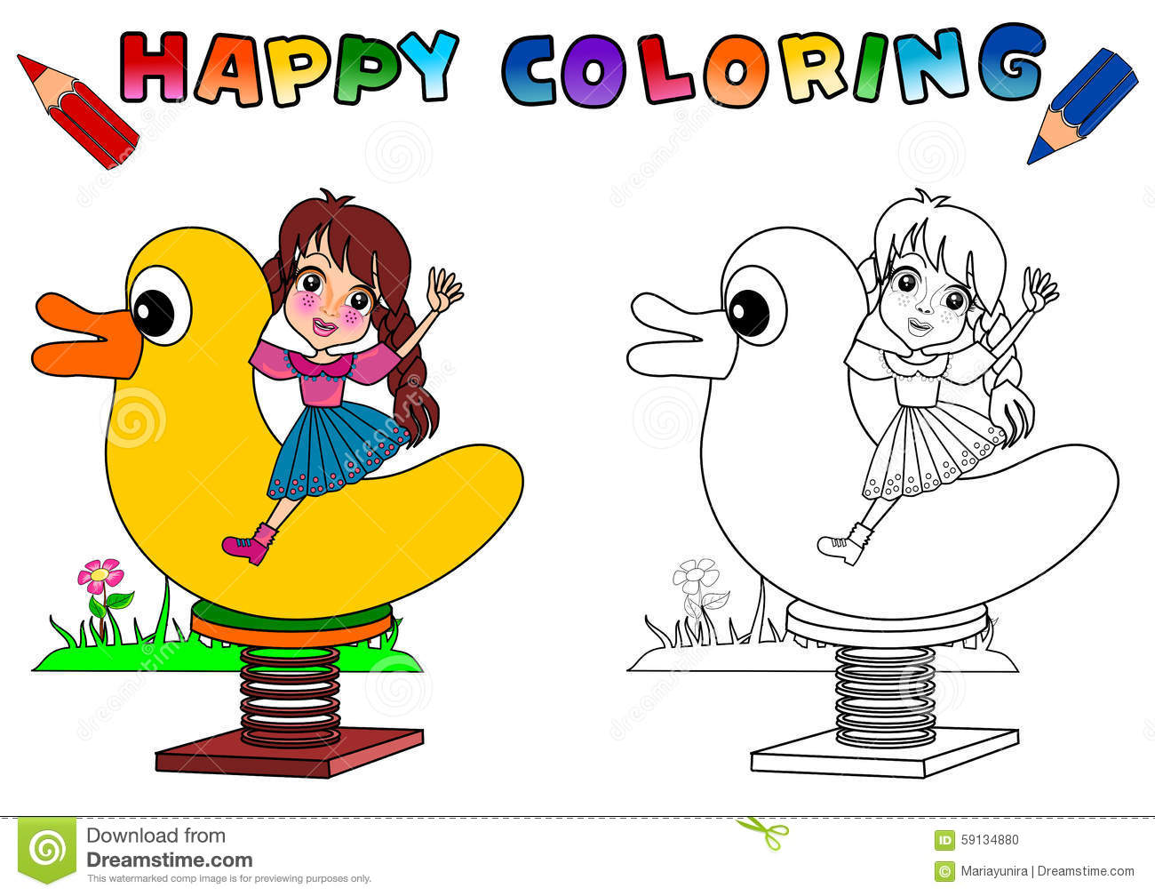 Coloring Book For Kids Isolated Stock Illustration