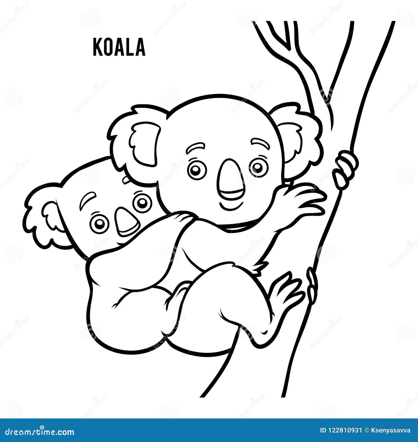 Coloring Book Koala Stock Vector Illustration Of Preschool