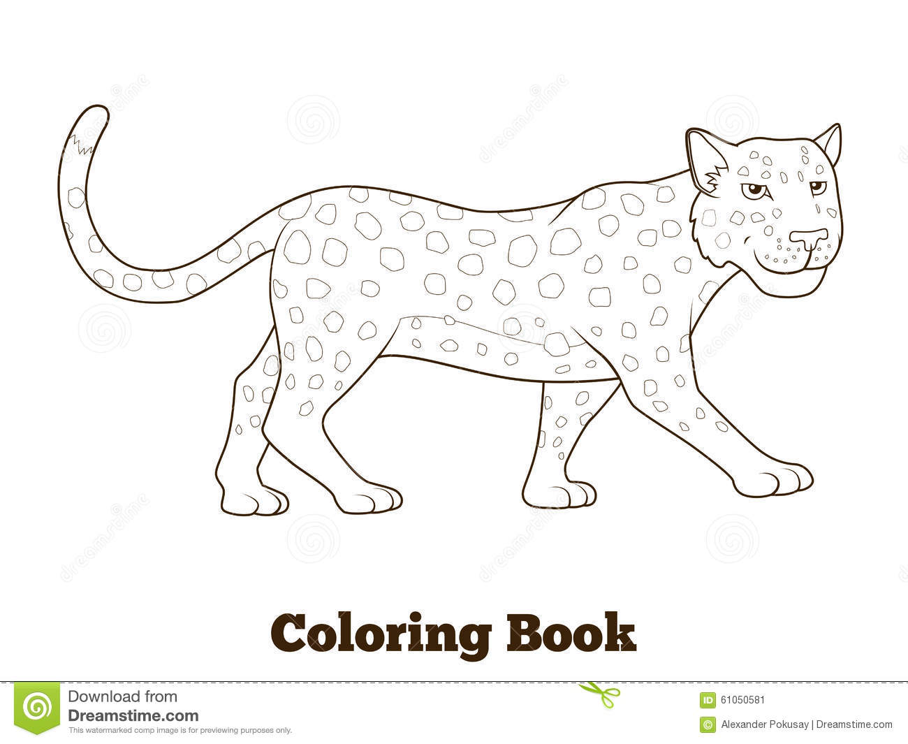 Coloring Book For Children African Savannah Background Cartoon