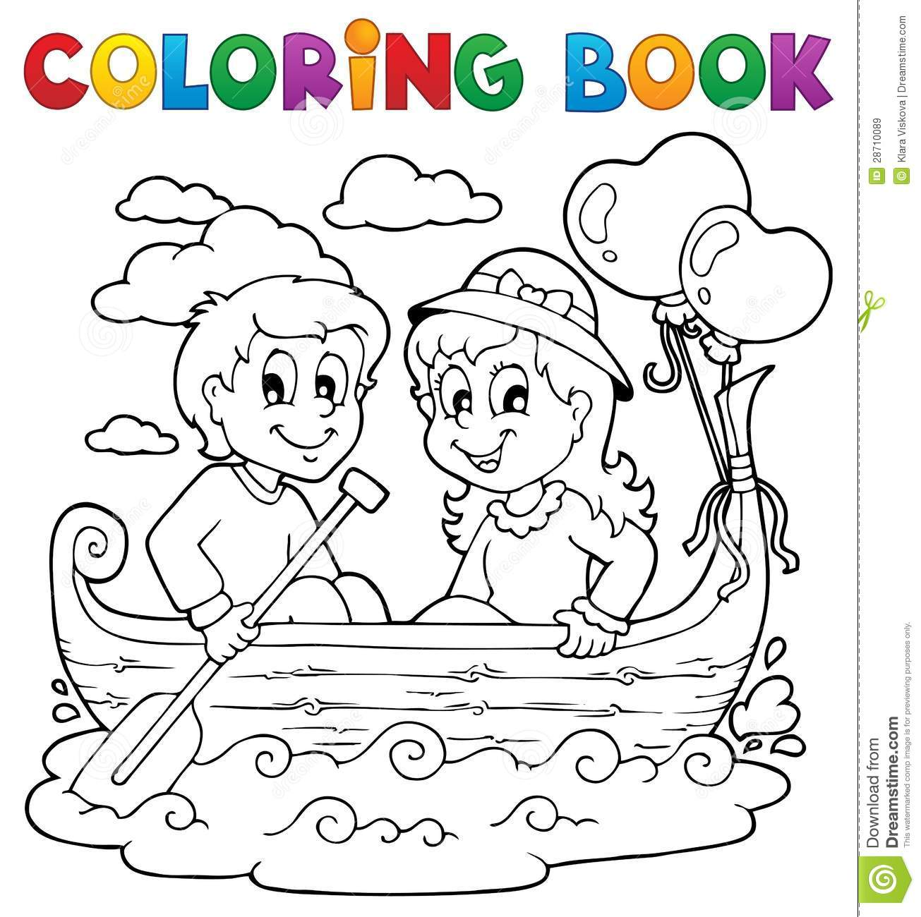 Coloring Book Love Theme Image 1 Stock Vector - Illustration of ...