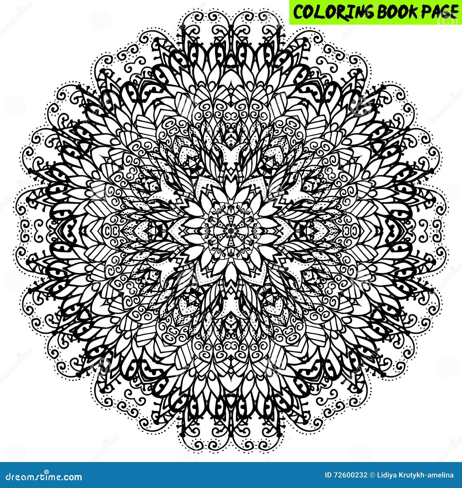 Coloring Book Mandala Outline Mandala Line Mandala Isolated