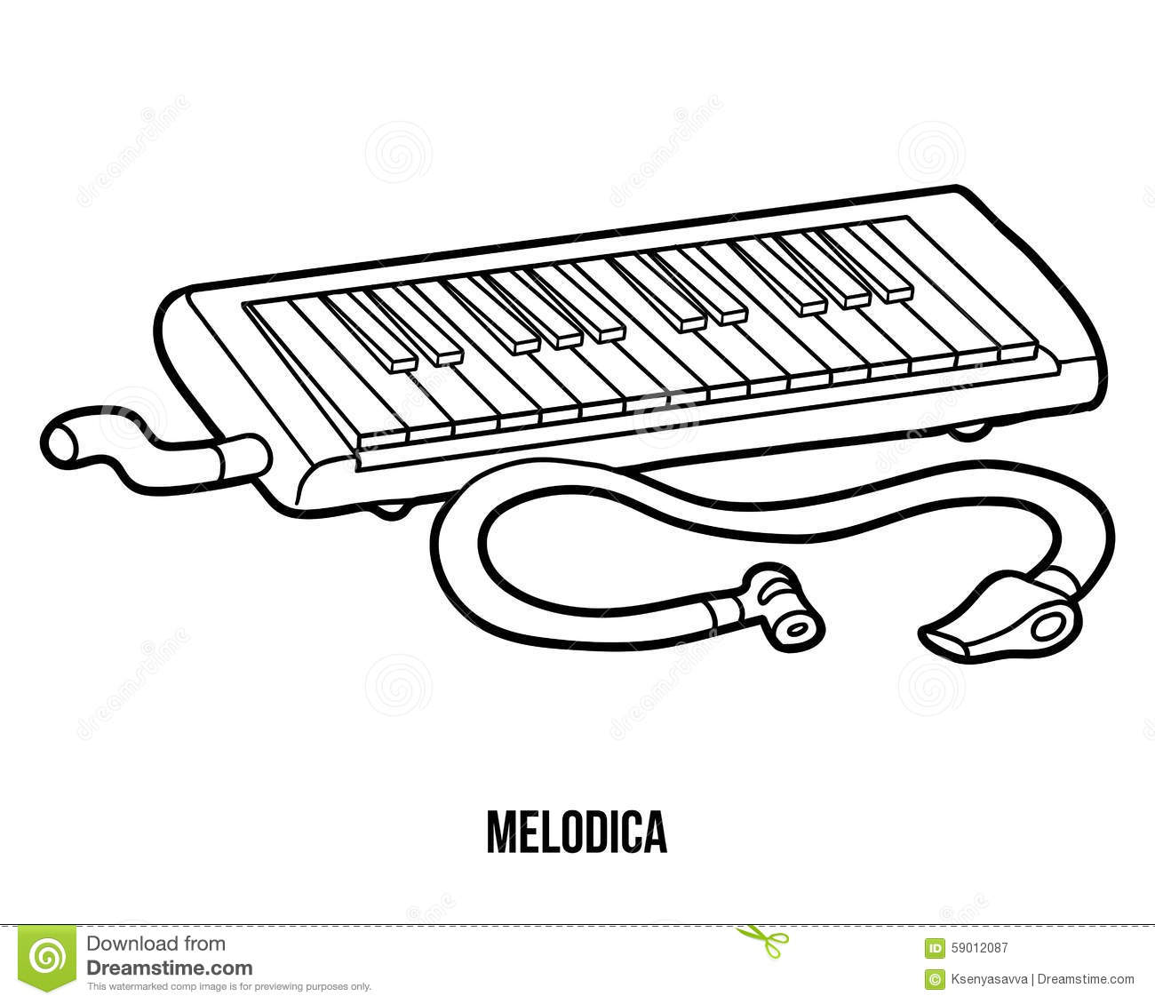 Coloring instruments - Coloring Book Musical Instruments Melodica