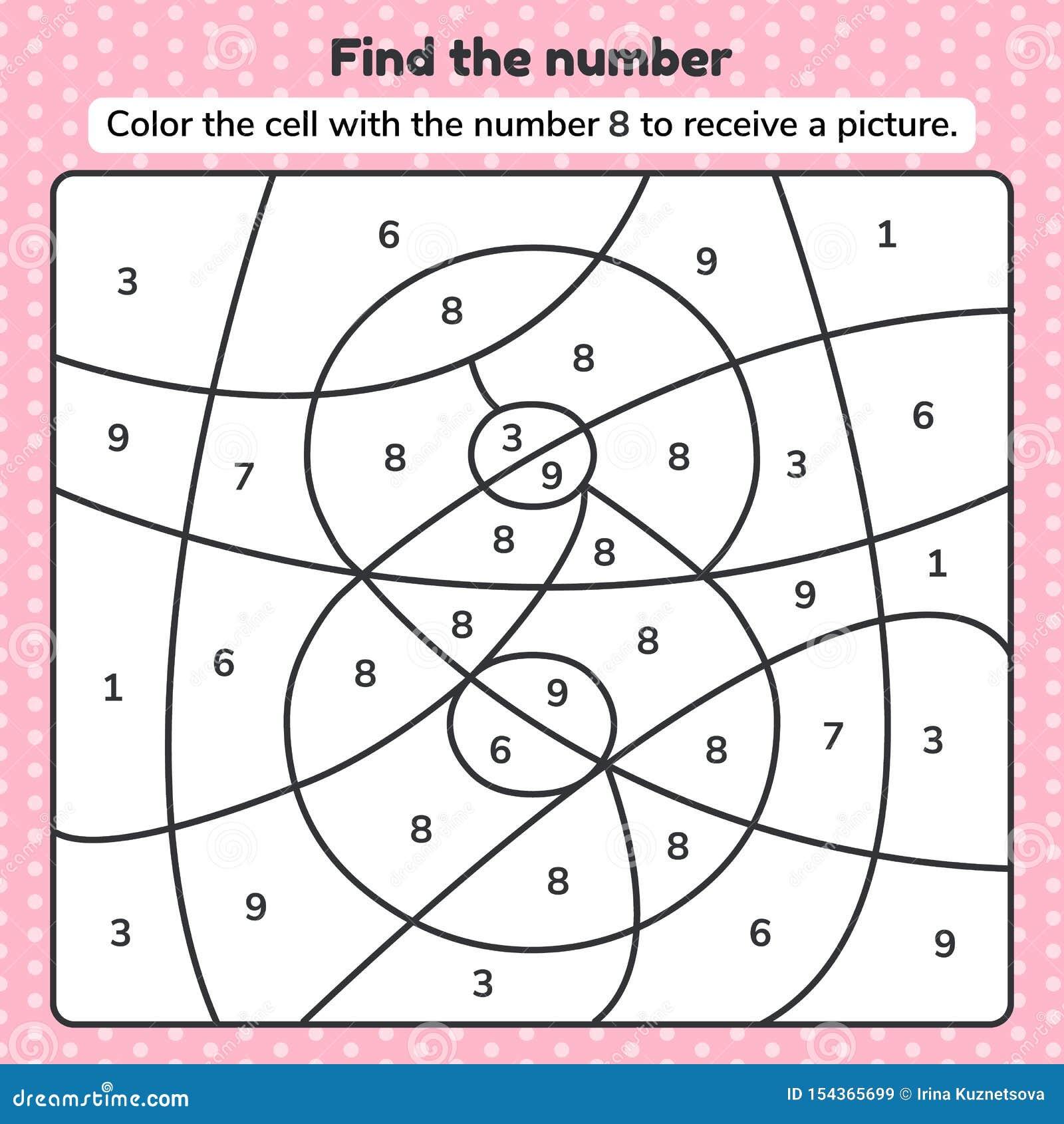 Coloring Book Number For Kids. Worksheet For Preschool ...