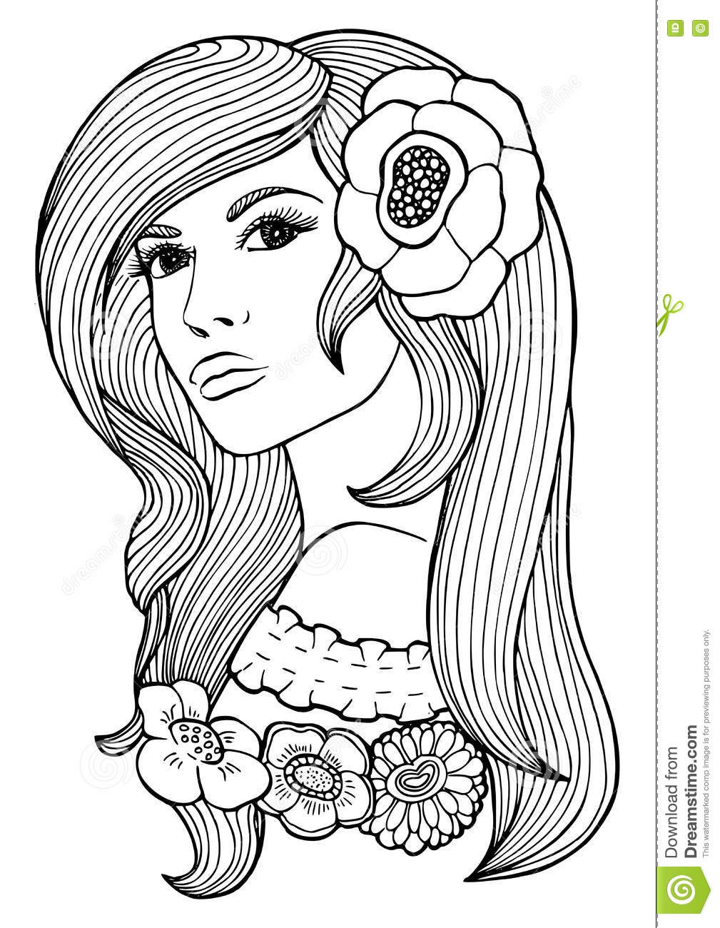 Coloring Book Page For Adult. Vector Anti Stress Pattern Stock ...