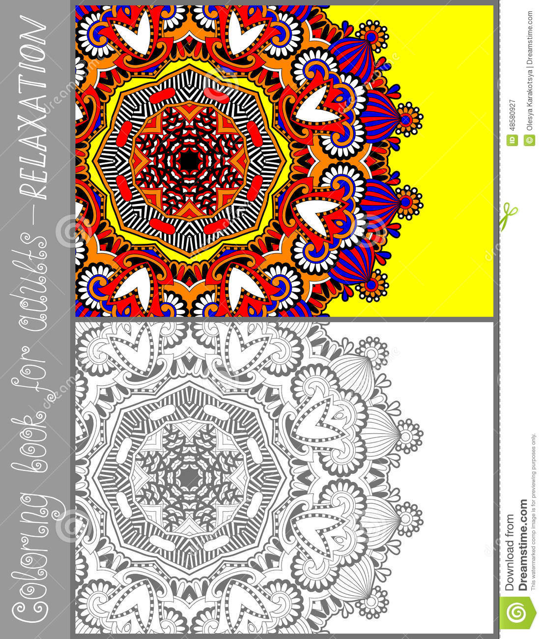 Flower designs coloring book - Coloring Book Page For Adults Flower Paisley