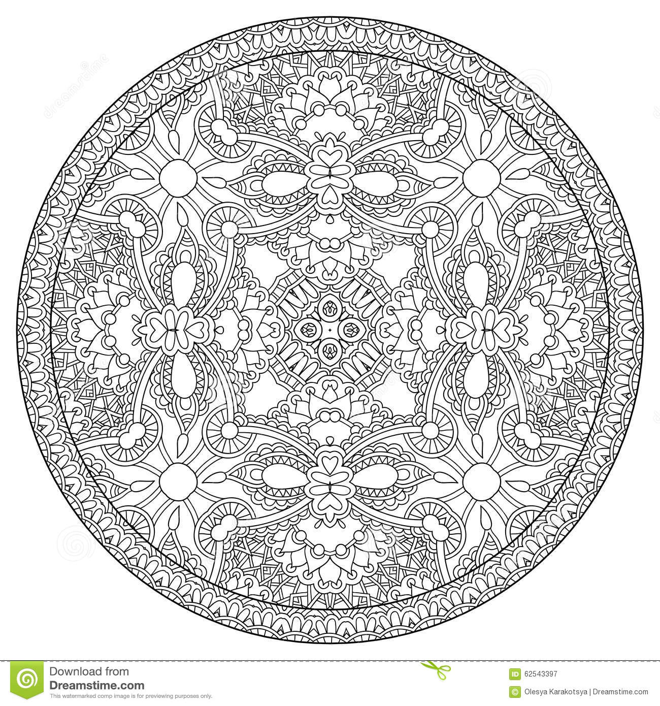 Line Art Joy : Coloring book page for adults zendala joy to stock