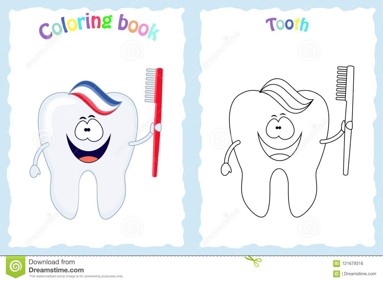 Top 10 Free Printabe Dental Coloring Pages Online | 957x1300