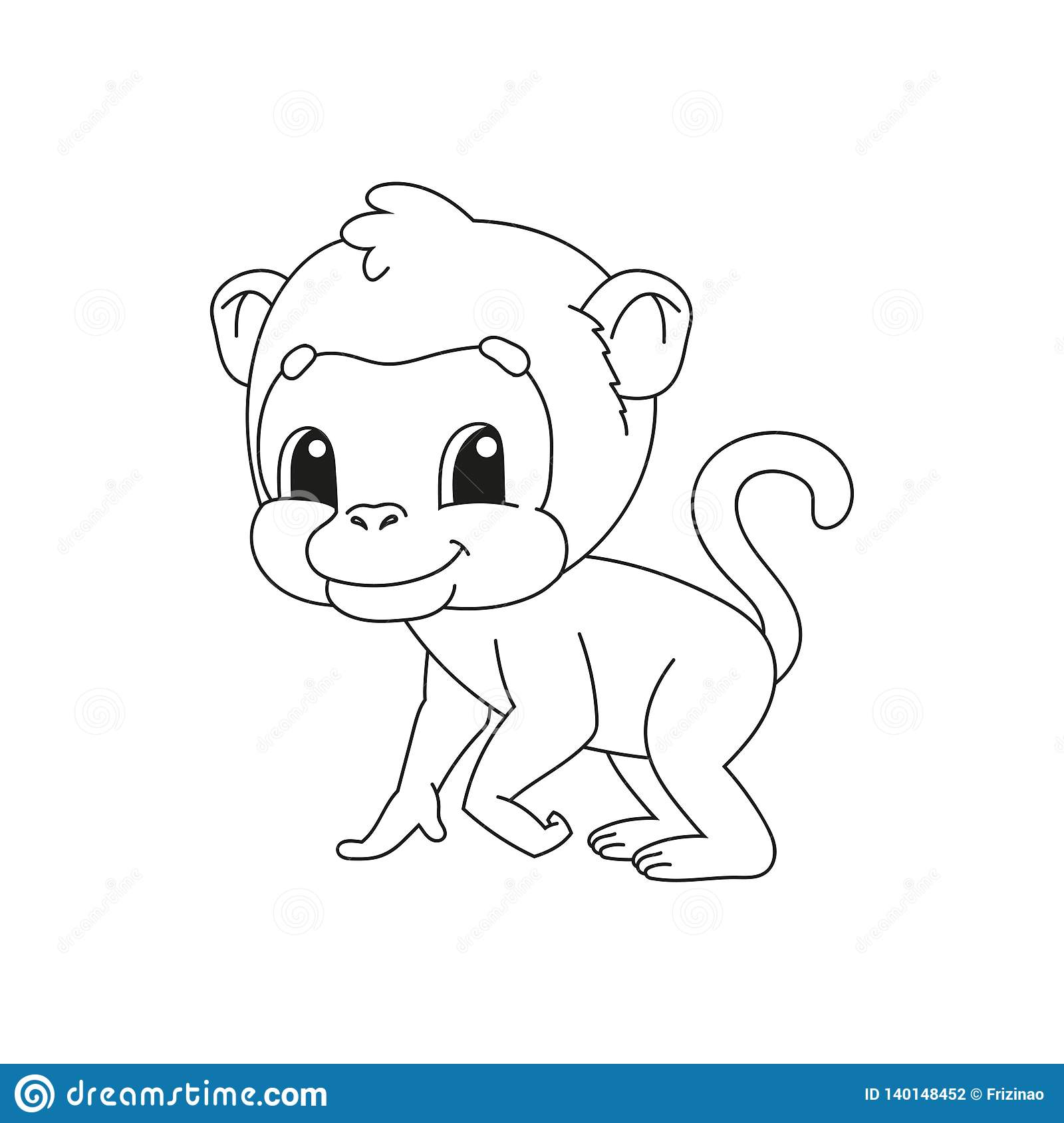 - Coloring Book Pages For Kids. Cute Cartoon Vector Illustration