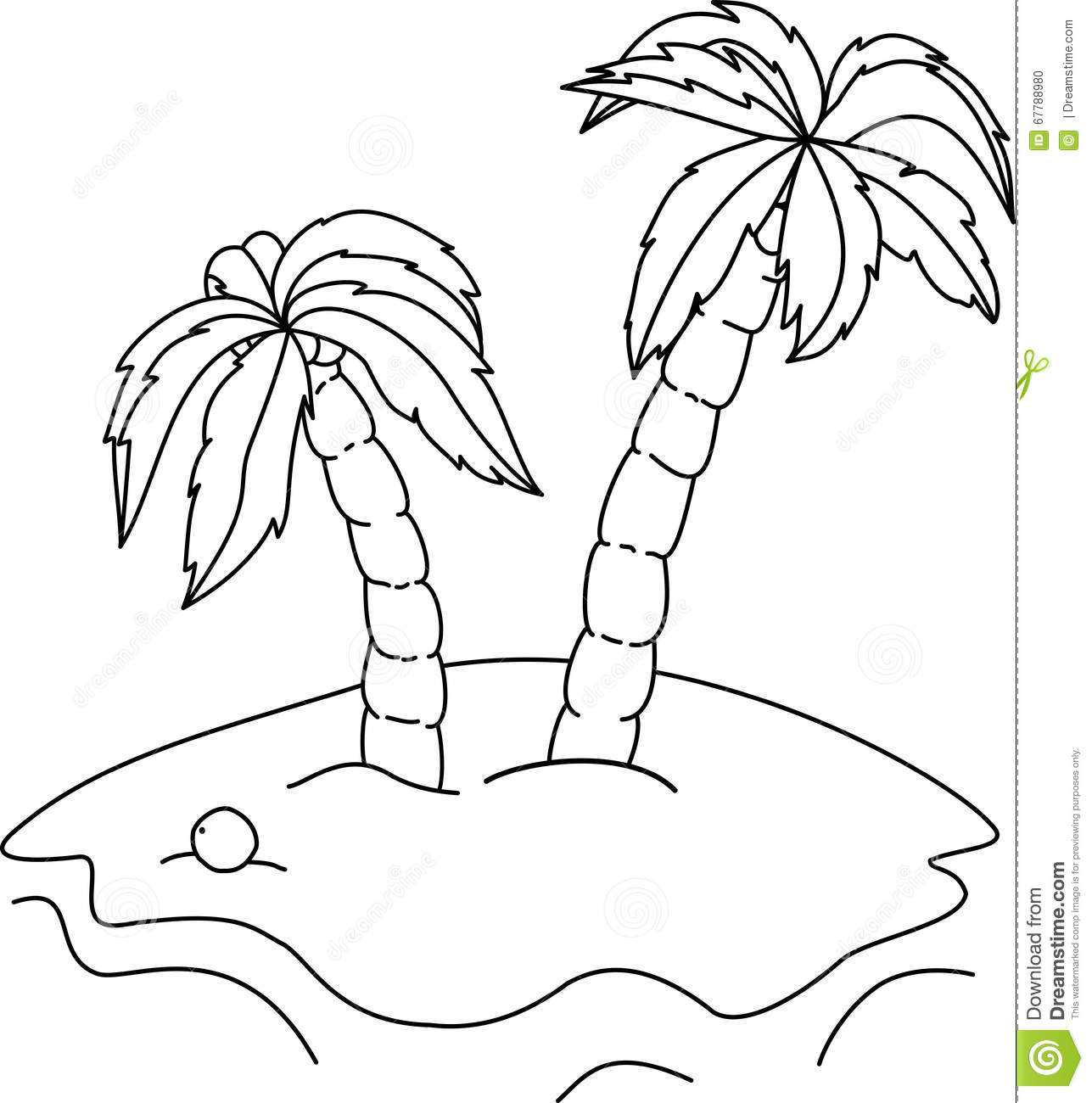 palm coloring page - coloring book palm trees coloring page
