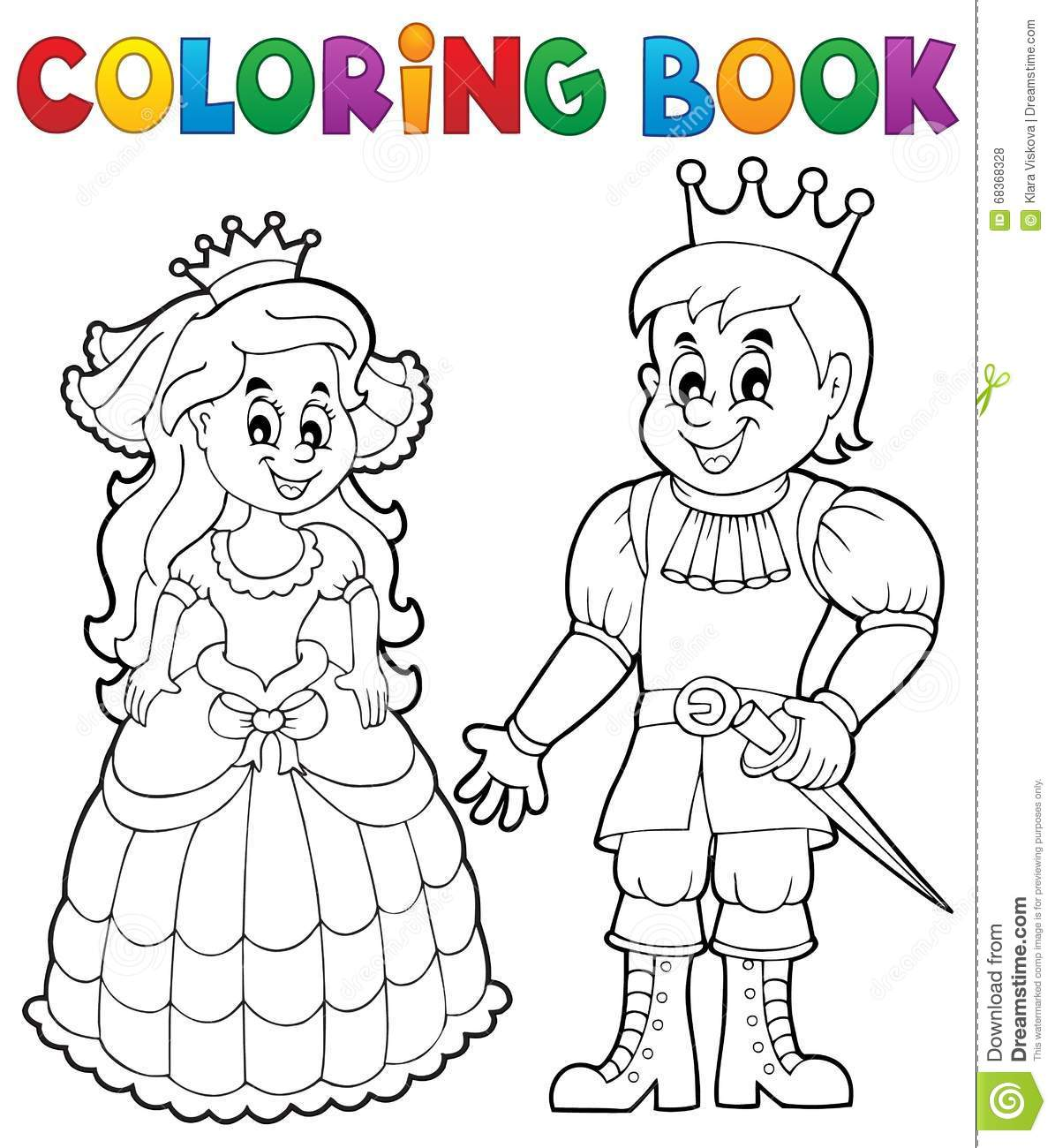 Coloring book princess - Coloring Book Princess And Prince