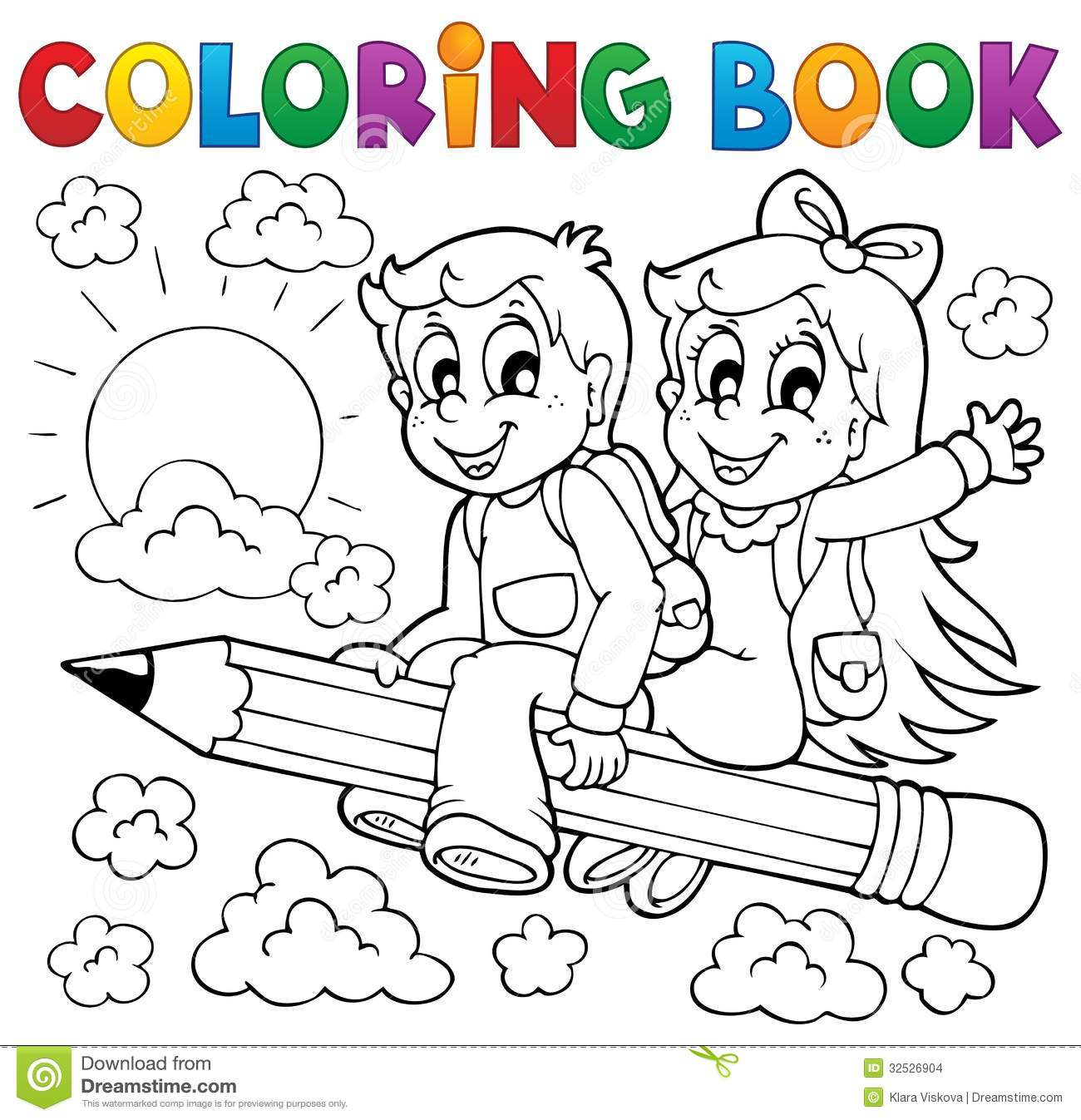 Coloring book school - Coloring Book Pupil Theme 3 Stock Images