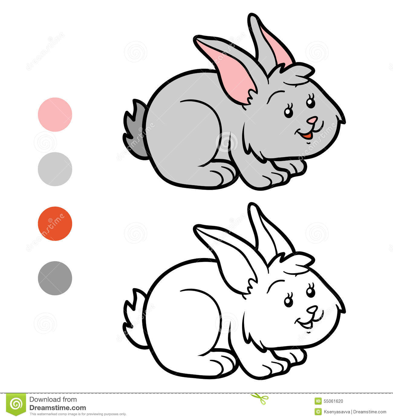 coloring book rabbit pictures : Coloring Book Rabbit