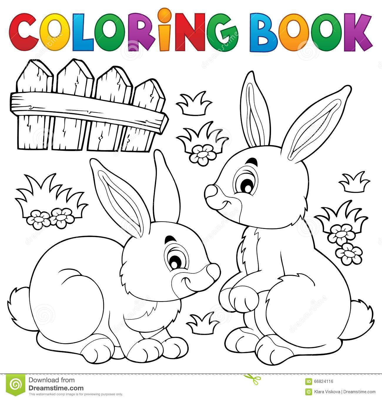 coloring book rabbit pictures : Coloring Book Rabbit Topic 1