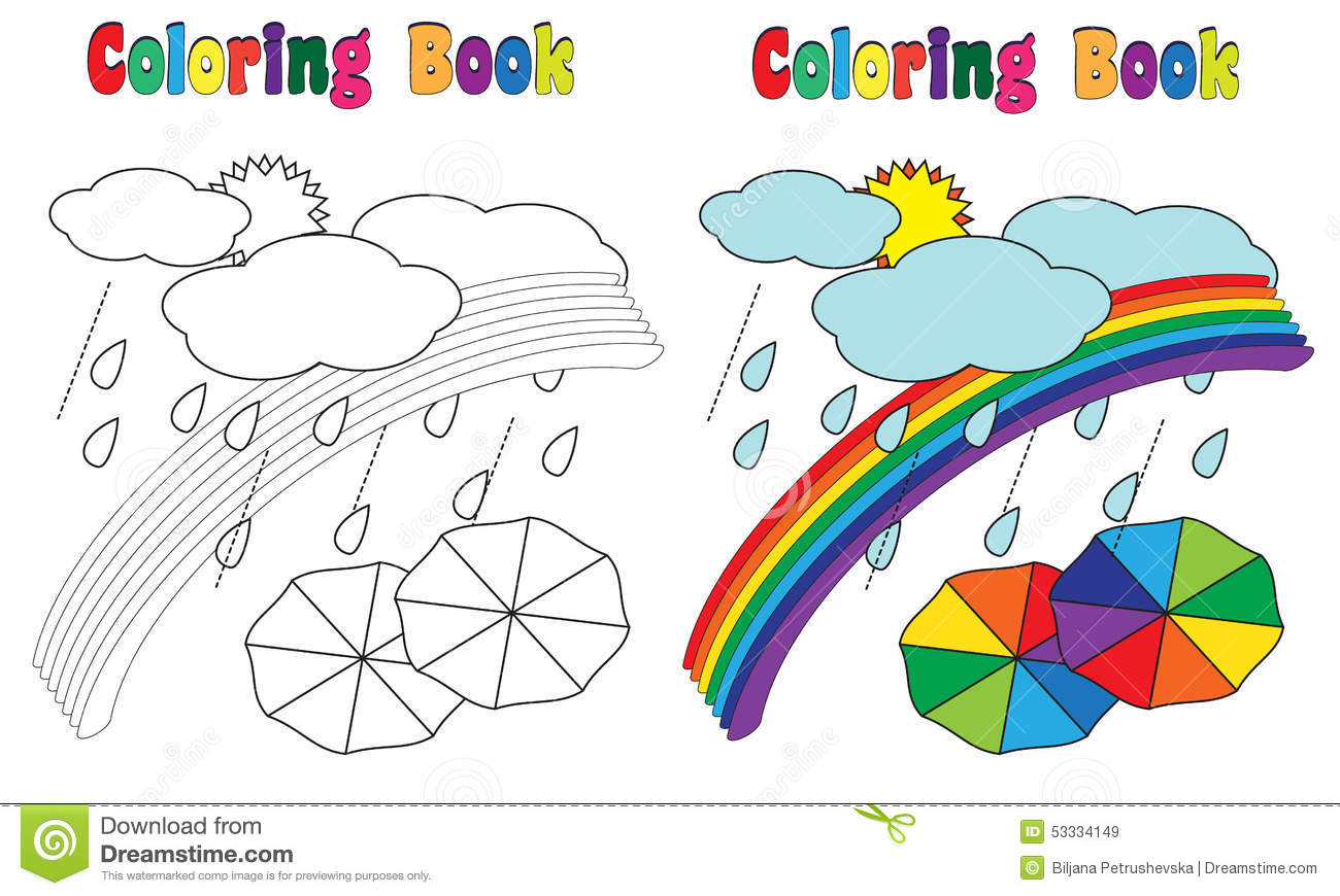 U Is For Umbrella Coloring Page Coloring Book Rainbow ...