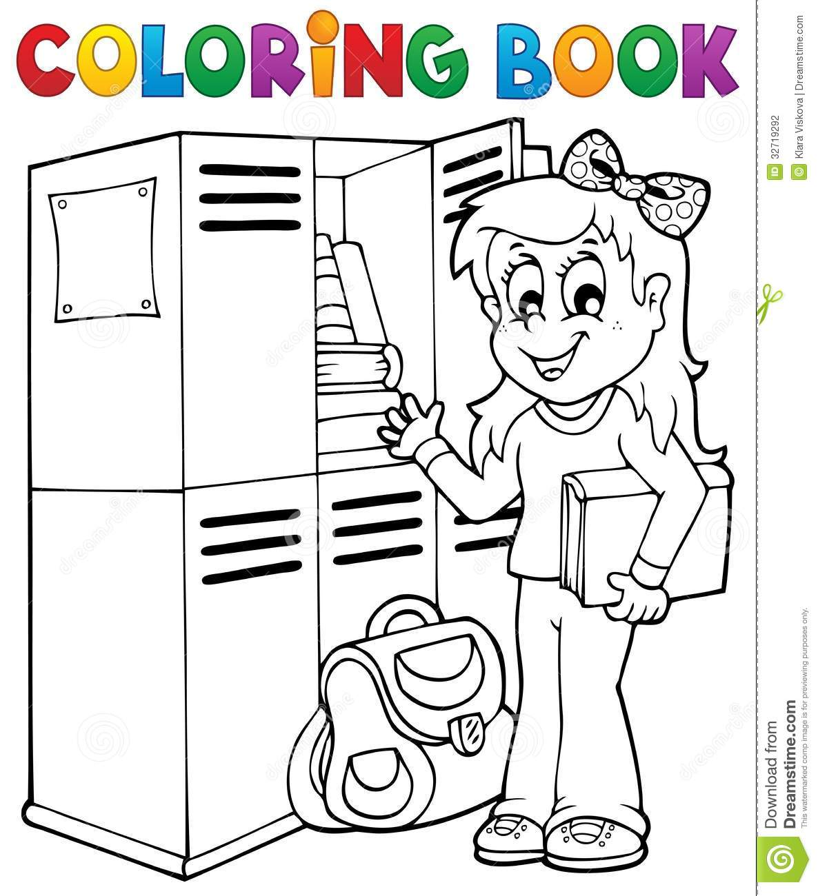 Coloring book school - Book Coloring Eps10 Illustration School