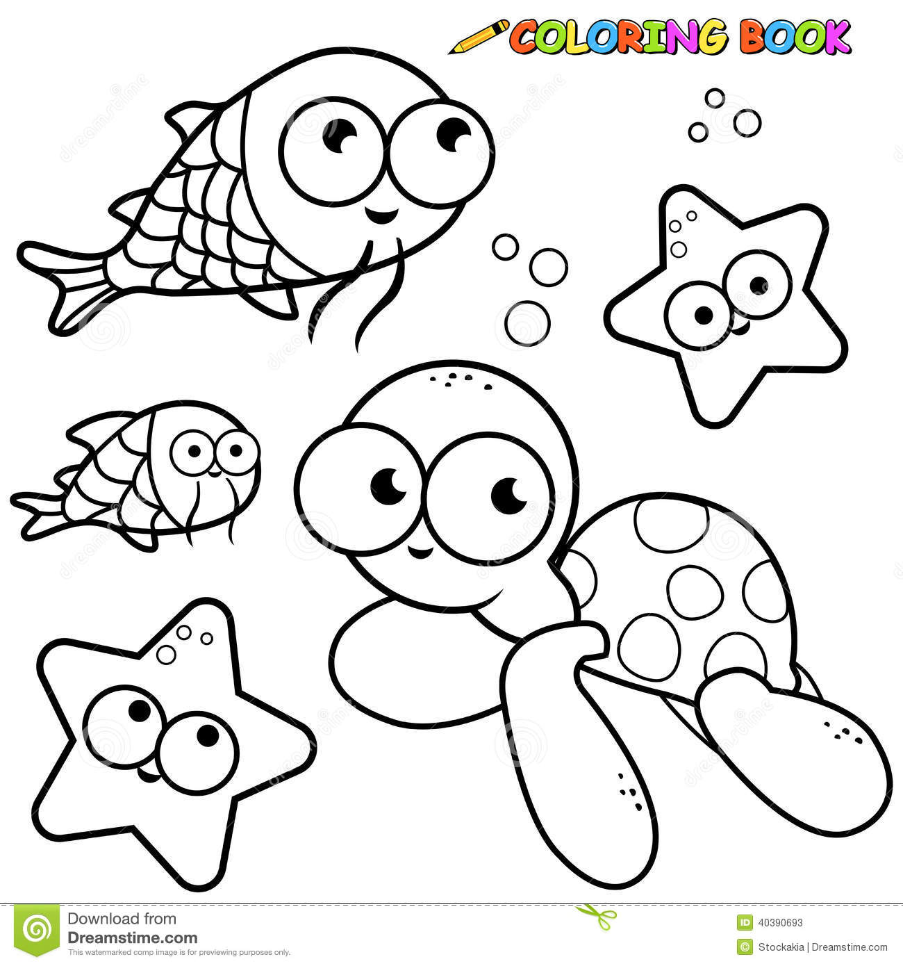 Coloring book outlines - Royalty Free Stock Photo Download Coloring Book