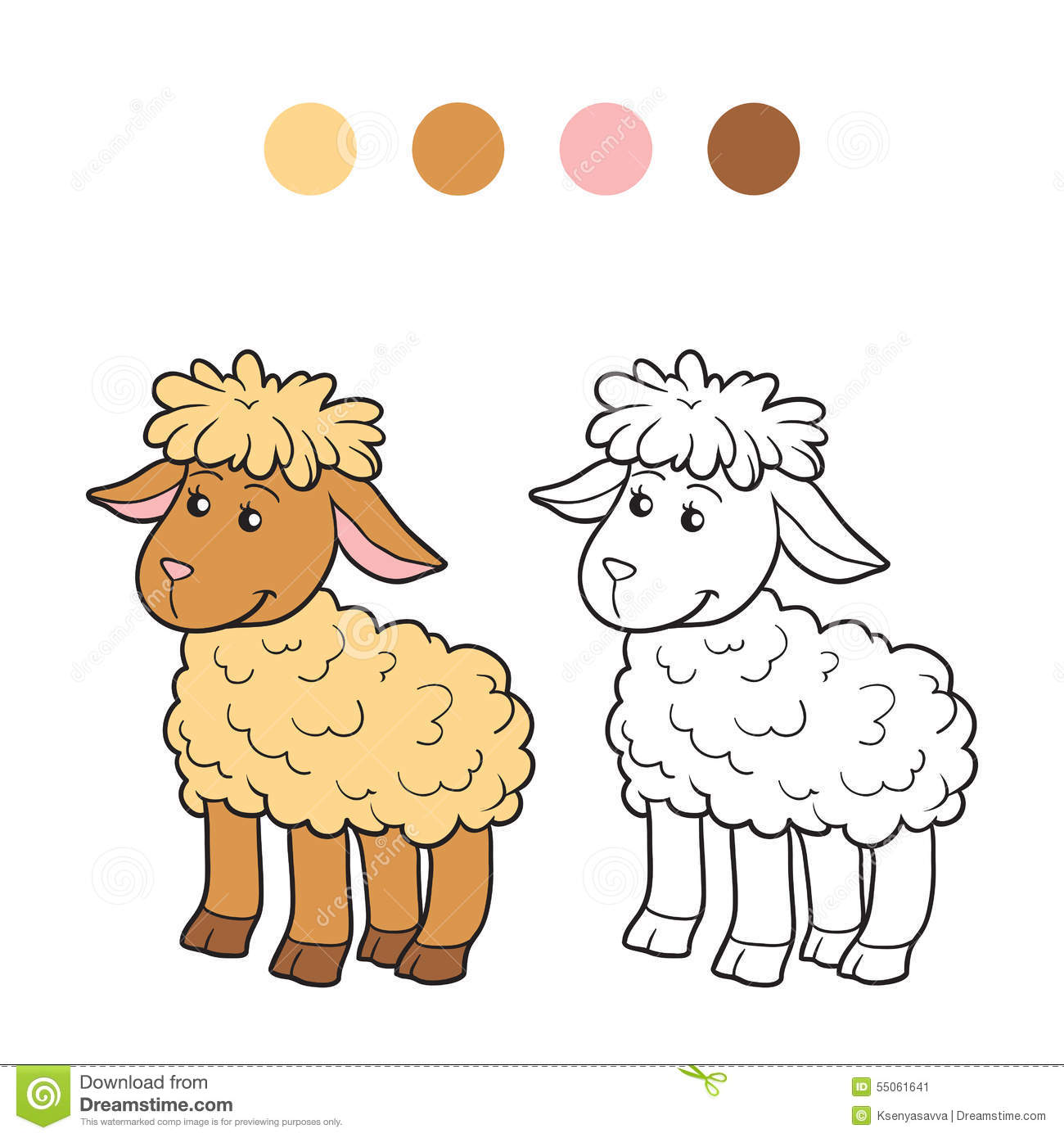 coloring pictures sheep : Coloring Book Sheep