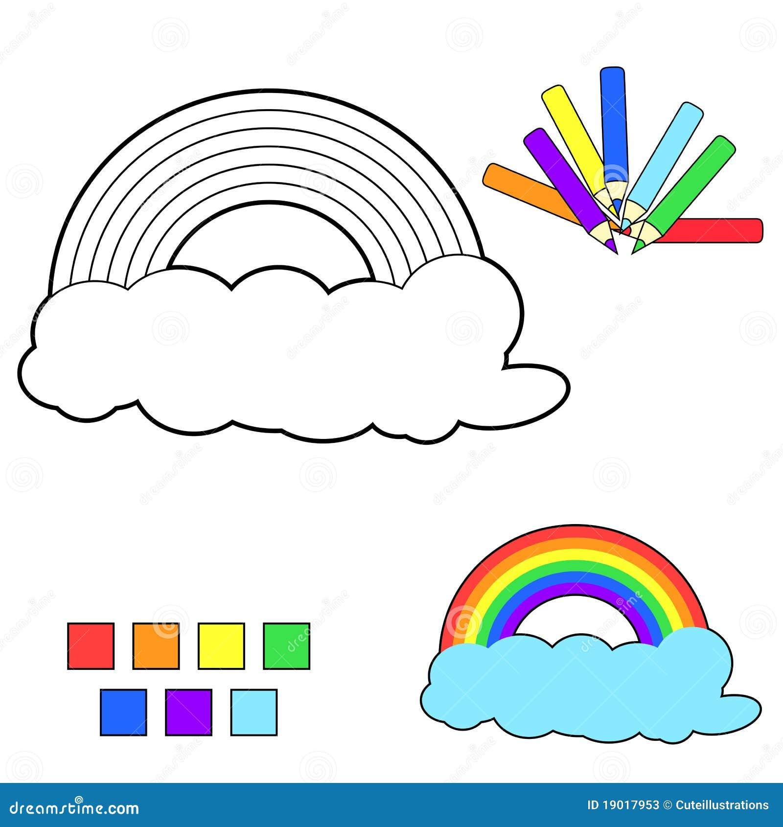 Coloring Book Sketch:rainbow Stock Vector - Illustration of rainbow ...
