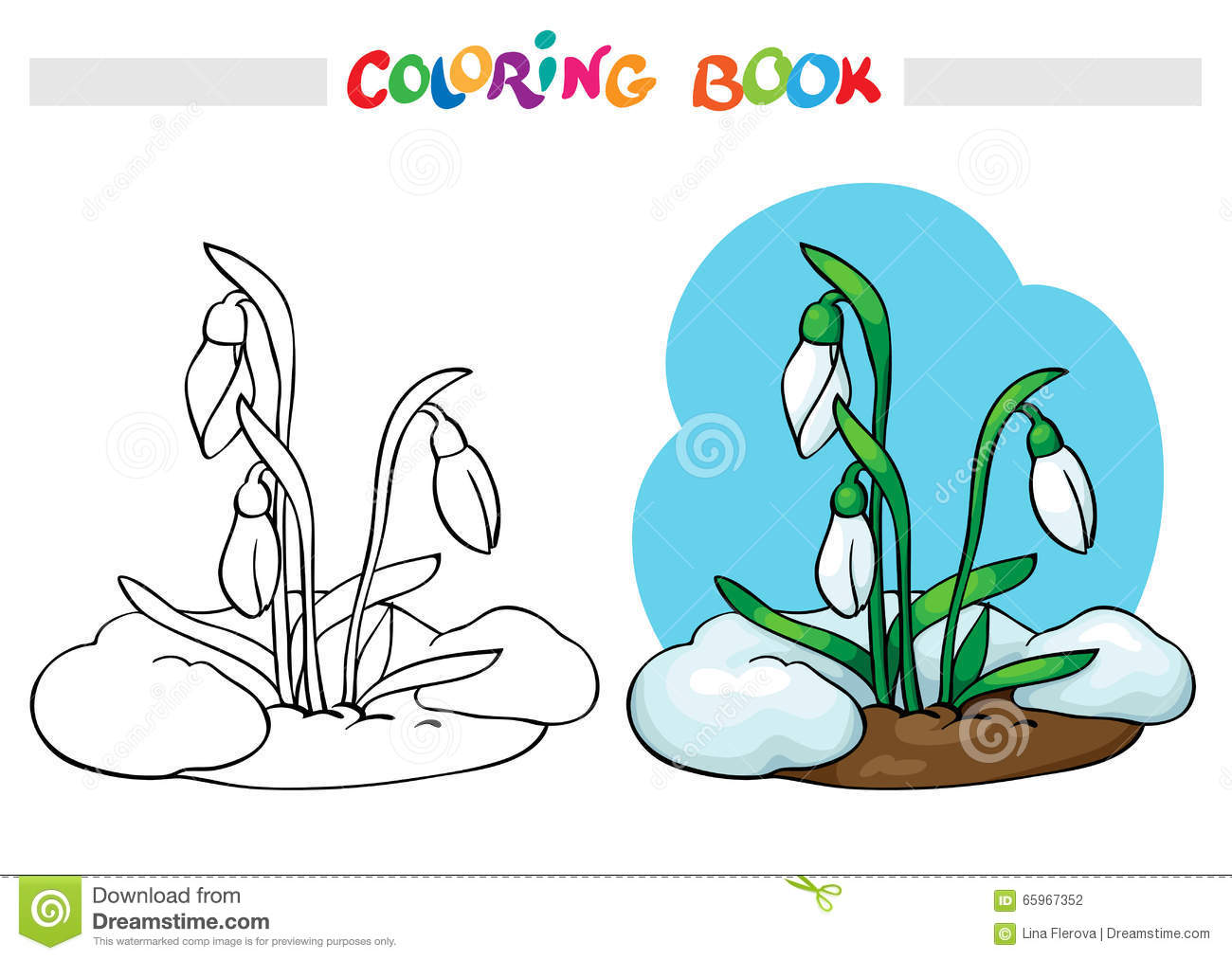 Download Coloring Book Snow Melts Grow The First Spring Flowers