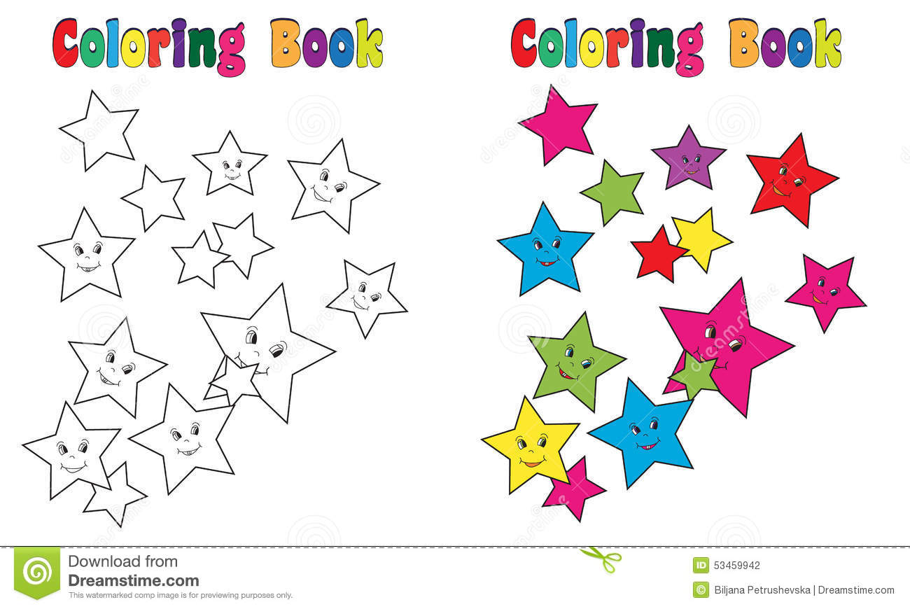Coloring Book Stars Splash stock vector. Illustration of mouse ...