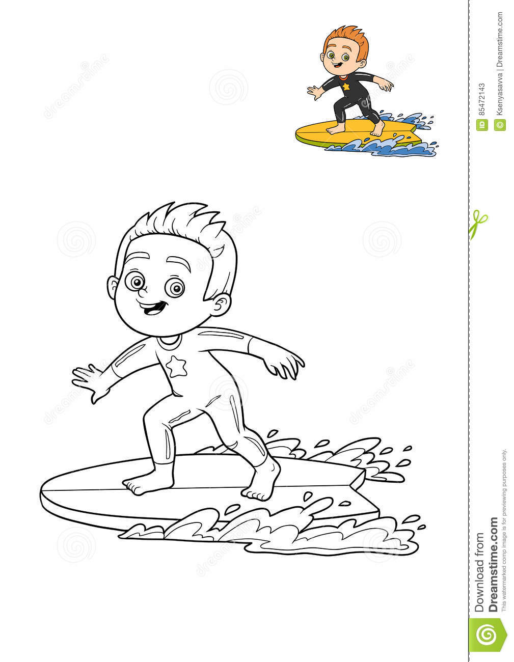 kids surfer coloring pages - photo#36