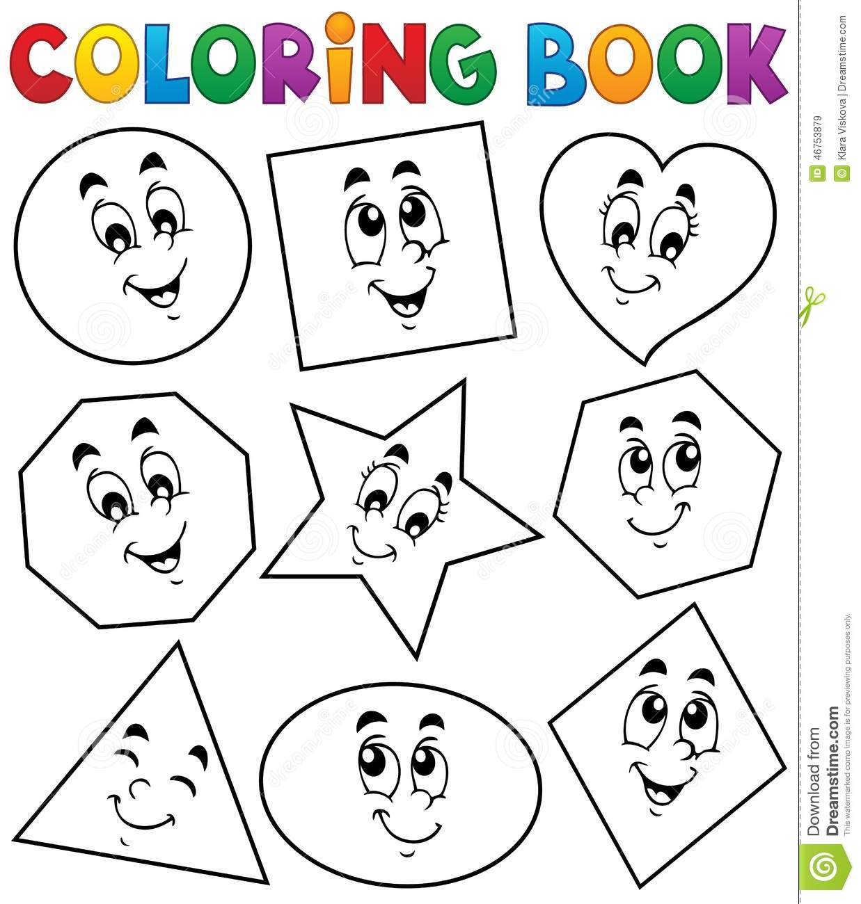Coloring Book Various Shapes 1 Royalty Free Vector