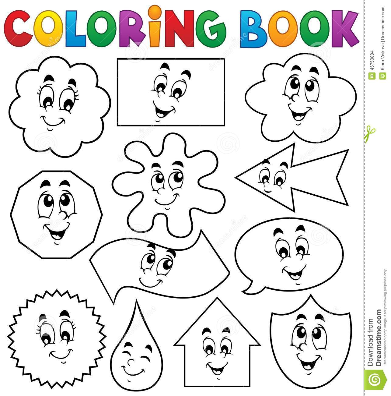 Coloring in shapes - Coloring Book Various Shapes 2