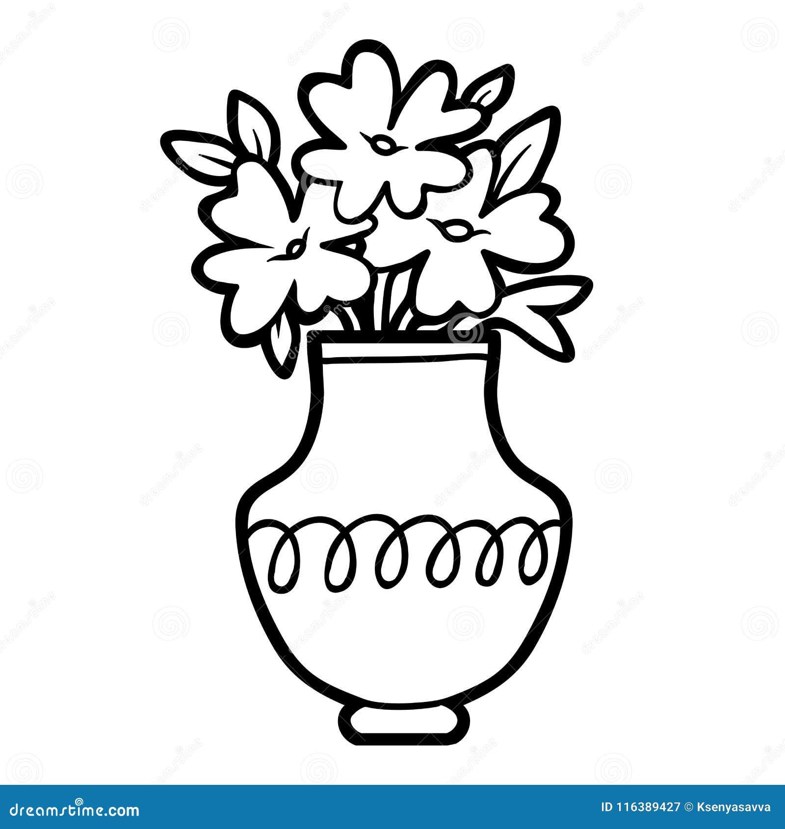 Download Coloring Book Vase Stock Vector Illustration Of Bottle
