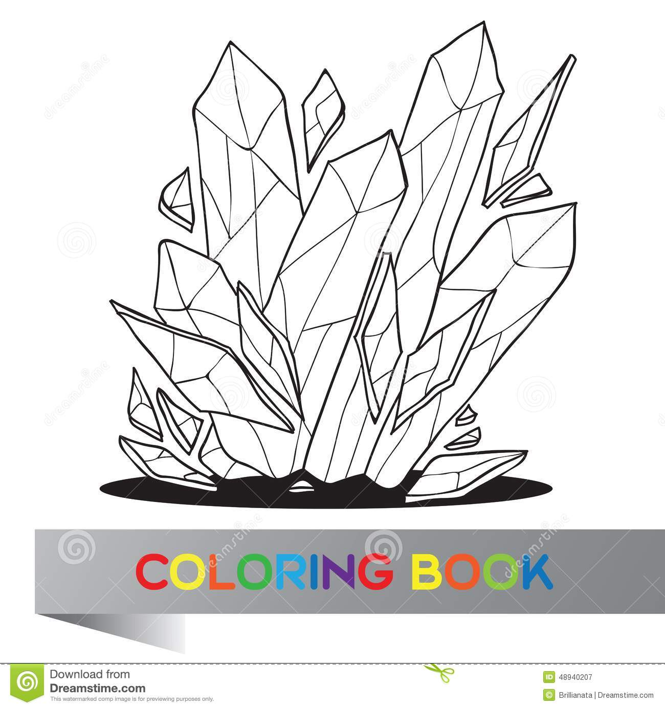 Coloring Book Vector Illustration Stock Vector Image