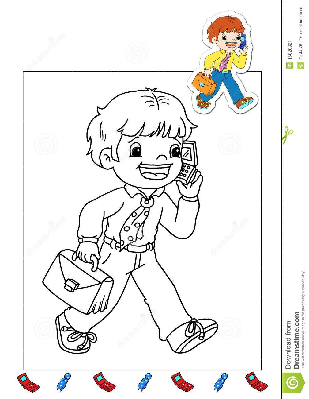 Coloring Book Of The Works 18 Manager Stock Illustration