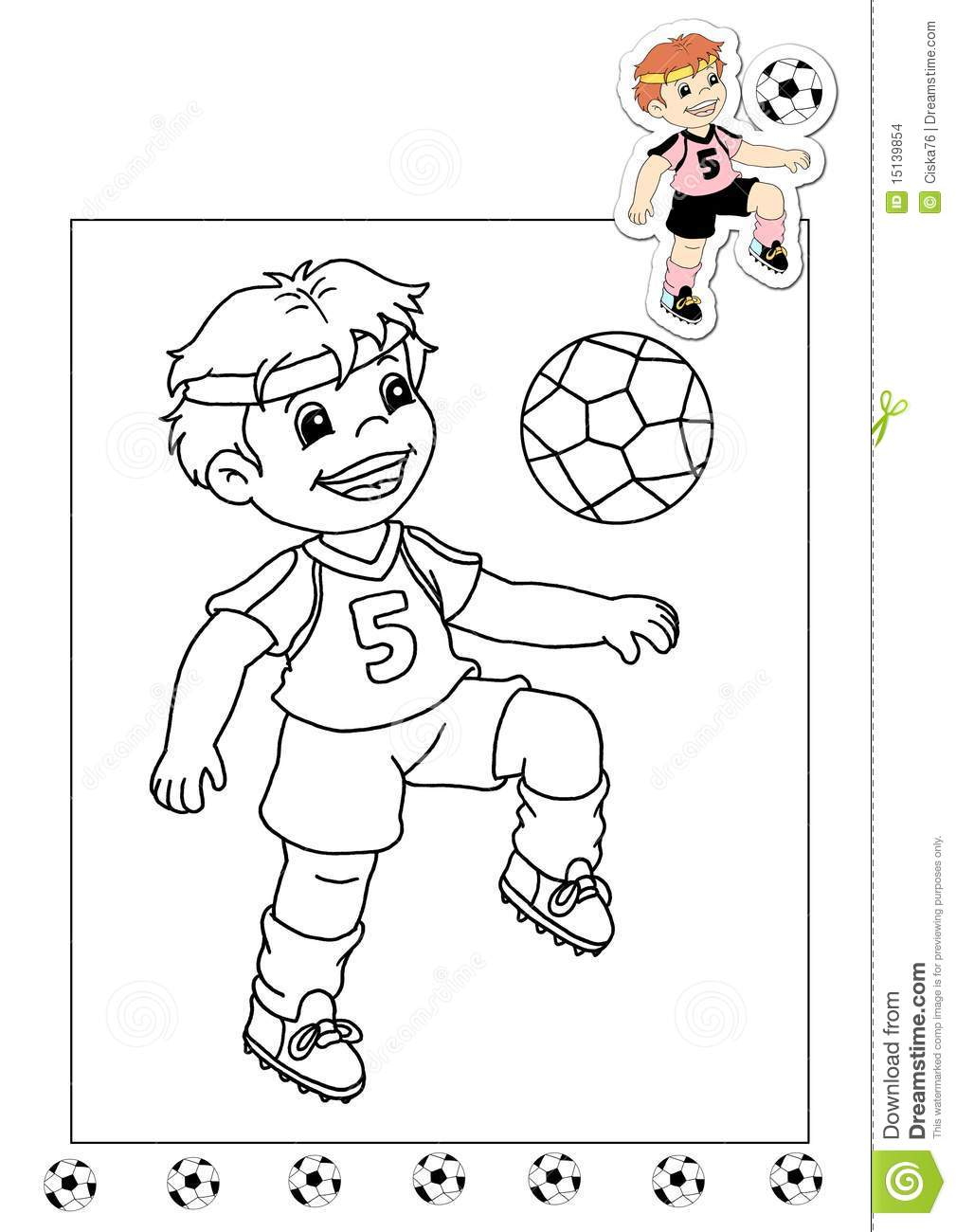 Coloring Book Of The Works 29 - Soccer Player Stock Illustration ...
