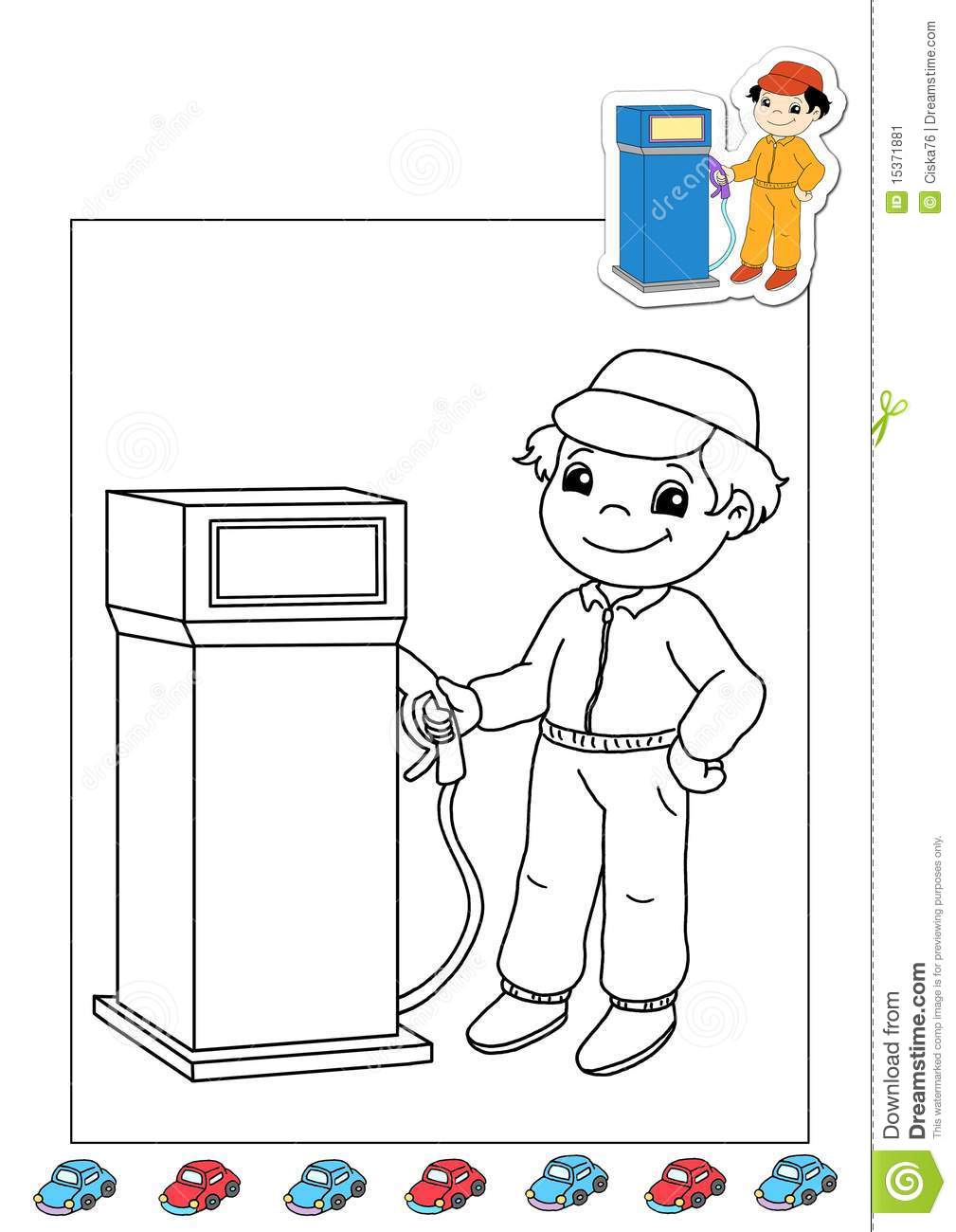 gas station coloring page - photo #9