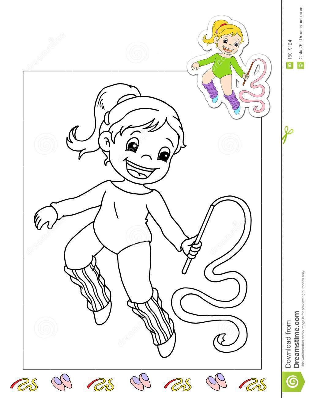 coloring book of the works 4 gymnast stock images image 15019124