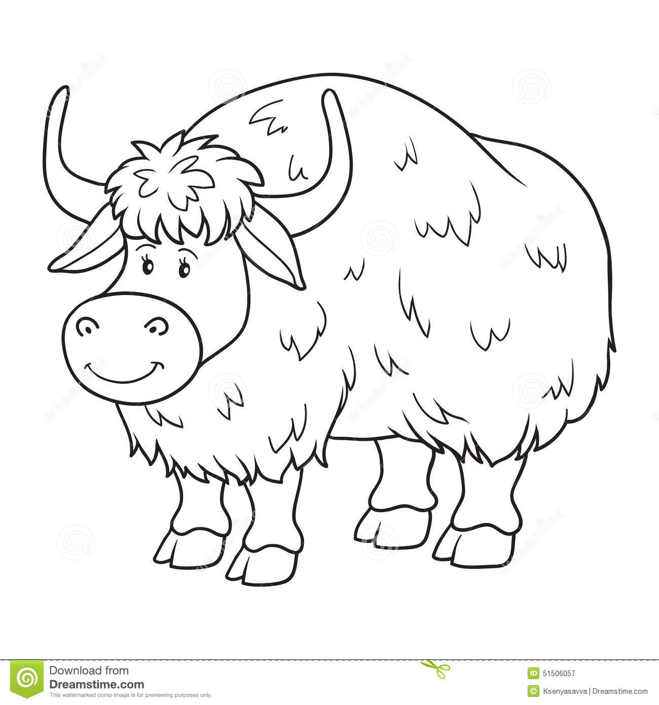 Yak clipart black and white - photo#23