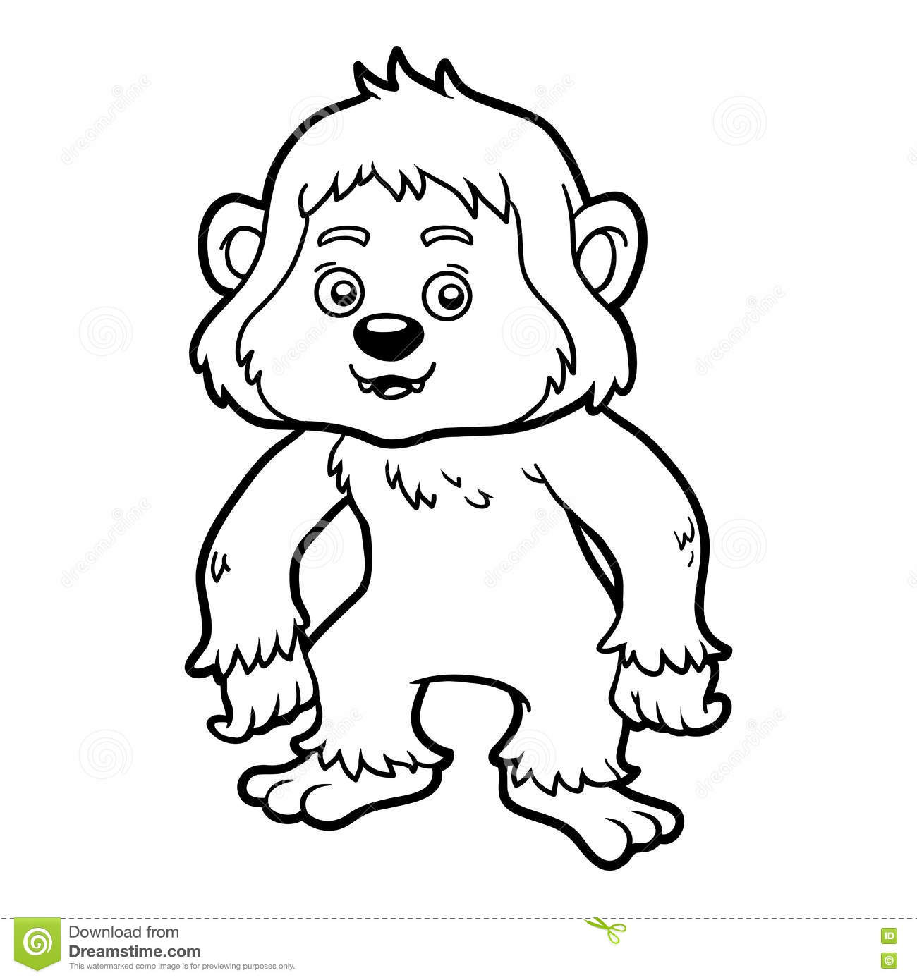 Royalty Free Vector Download Coloring Book Yeti