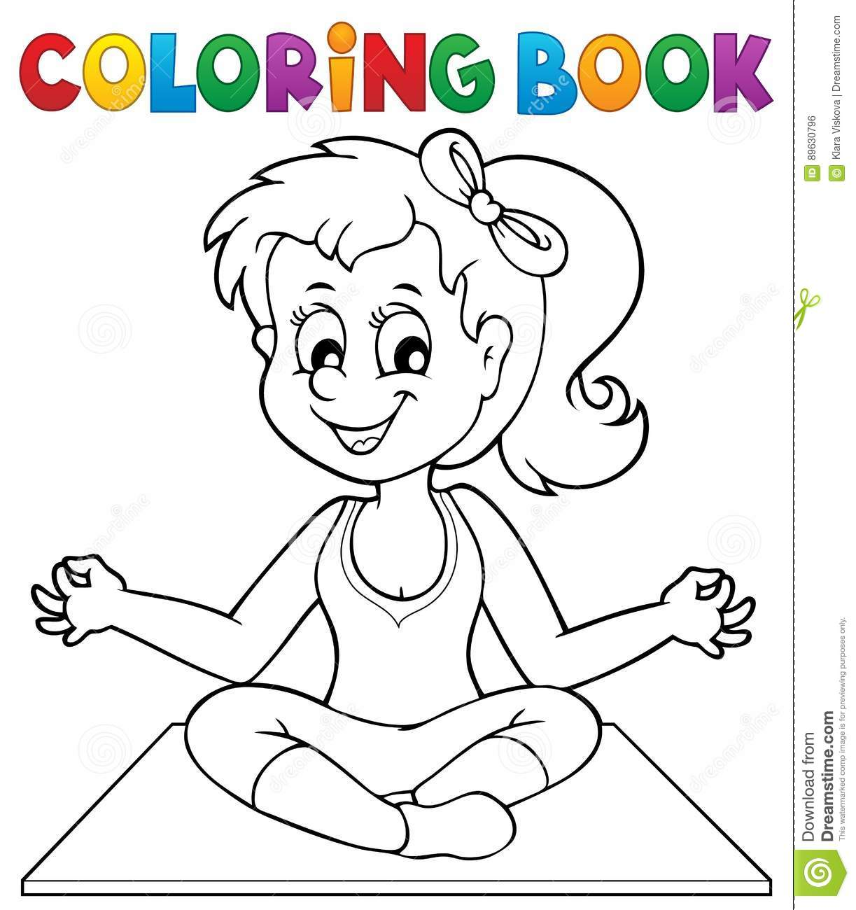 Royalty Free Vector Download Coloring Book Yoga