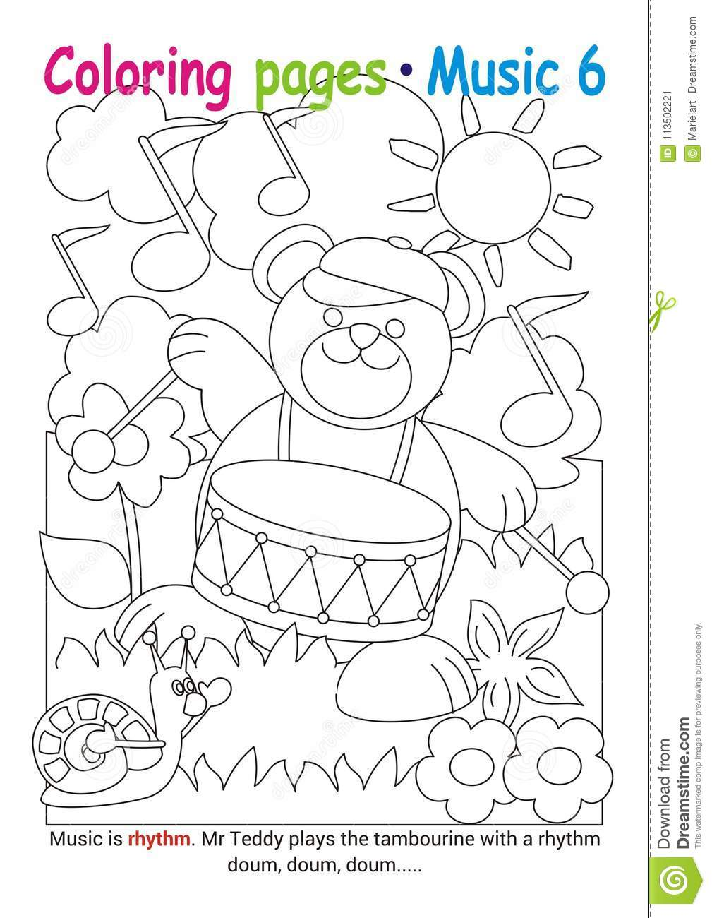 Free Printable Music Coloring Pages For Kids | 1300x1009