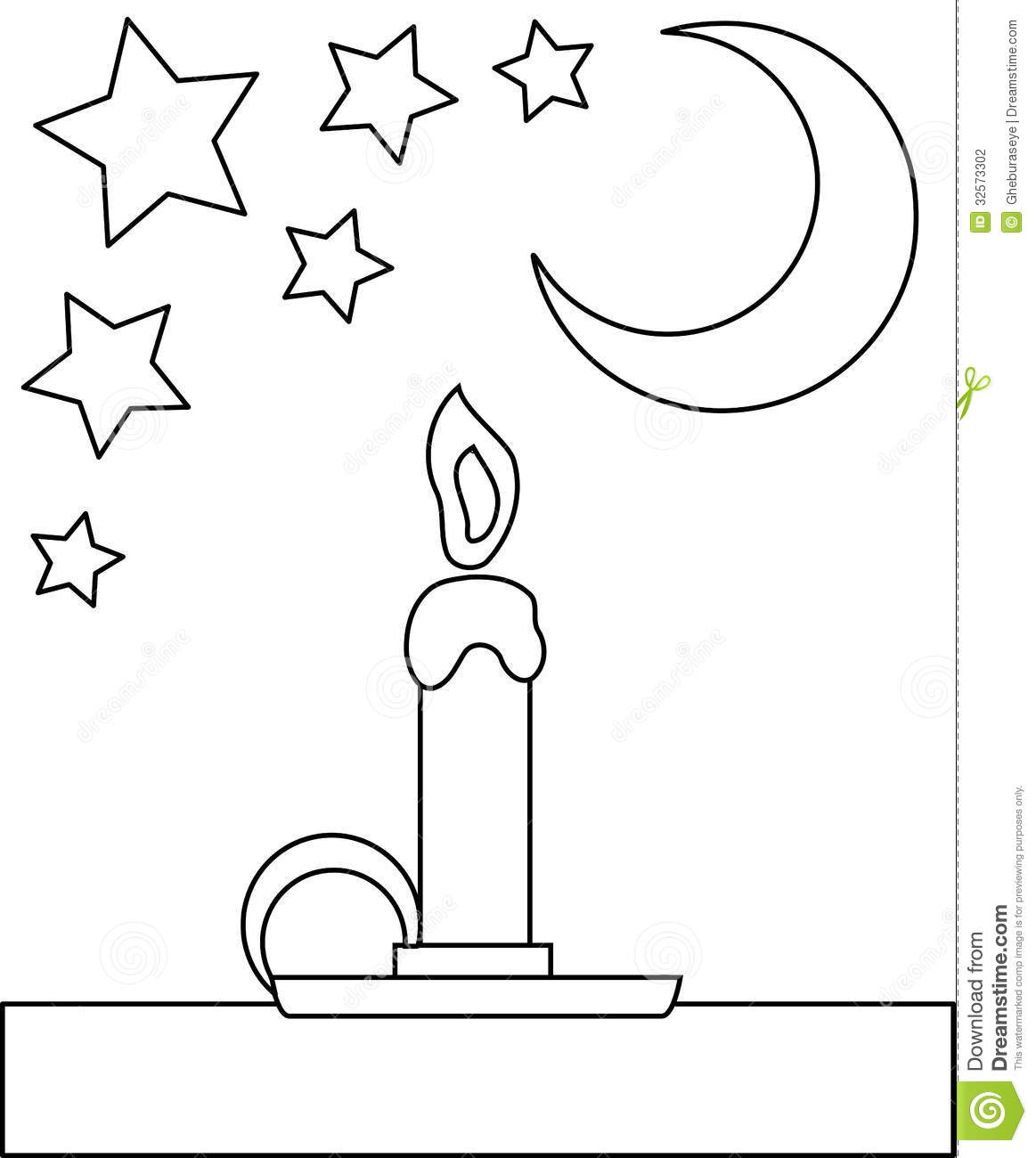 coloring candle stock photography