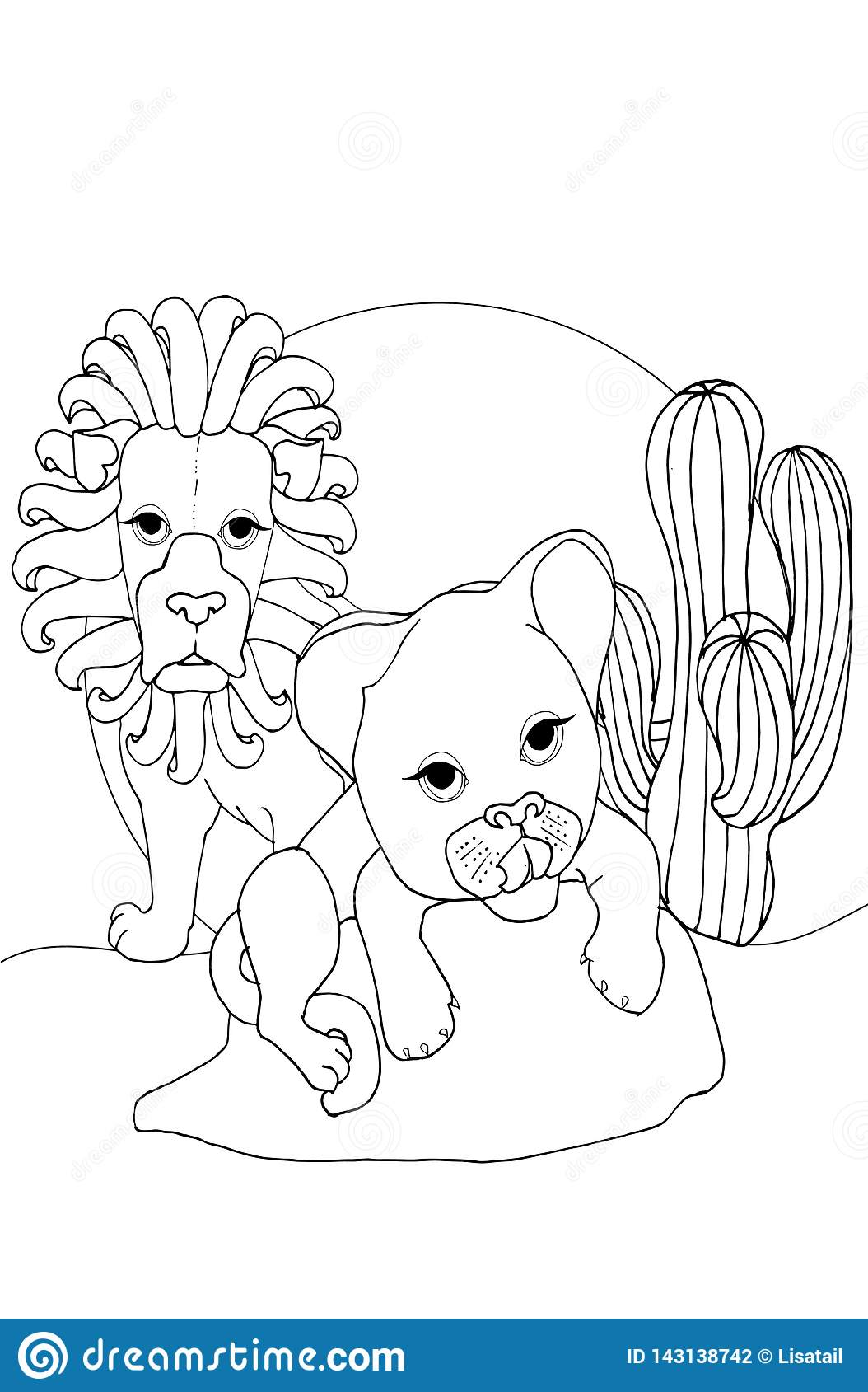 Coloring Children Animals And Children Animals Lion Stock Illustration Illustration Of Drawn Africa 143138742 Cartoon lion outline lion cartoon lion outline outline cartoon sketch symbol icon character cute person cartoon character people human woman colorful animal emblem funny multicolored animals posture. https www dreamstime com coloring children animals lion page outline cartoon cute baby illustration summer book kids image143138742