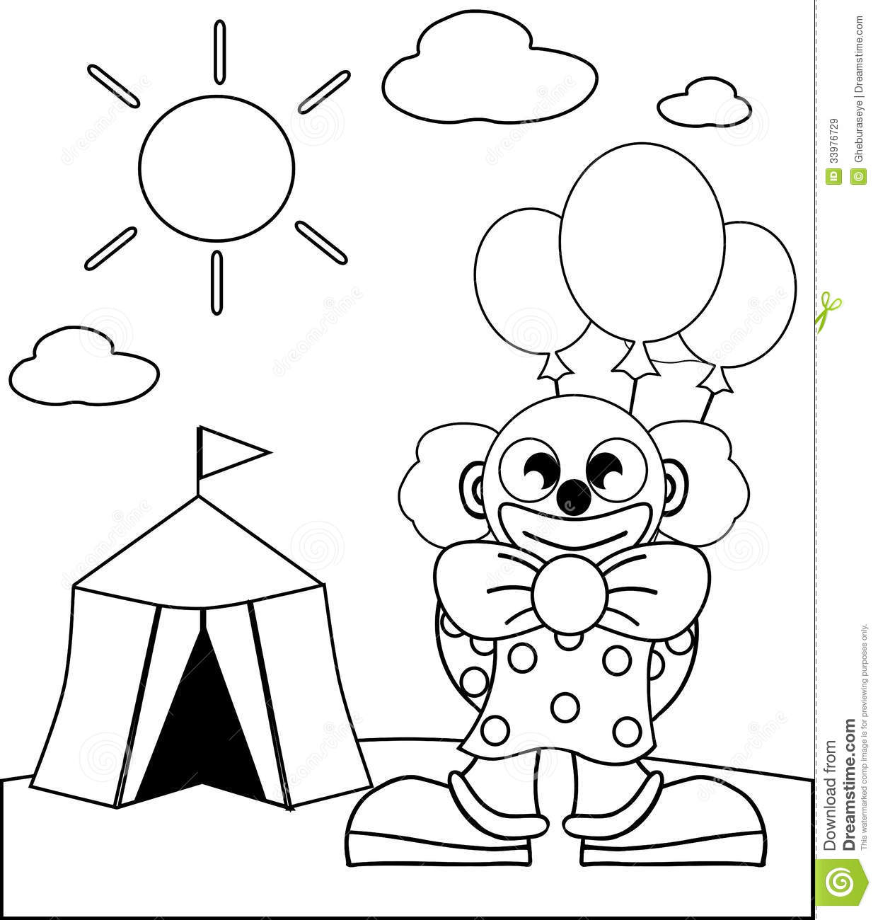 Coloring Clown Royalty Free Stock